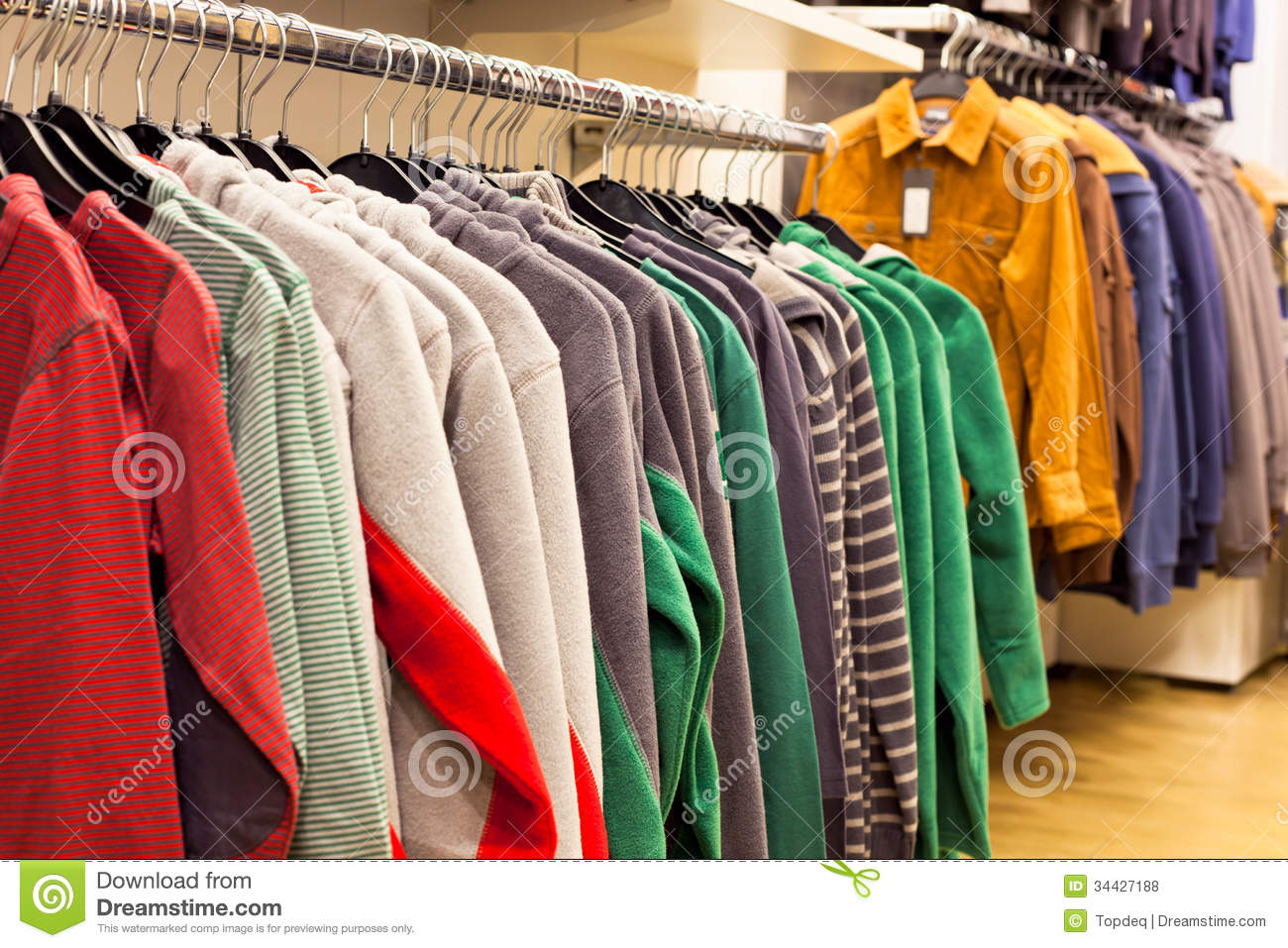 84b33fe200 Men Clothing In Fashion Store Stock Photo - Image of clothing, rail ...