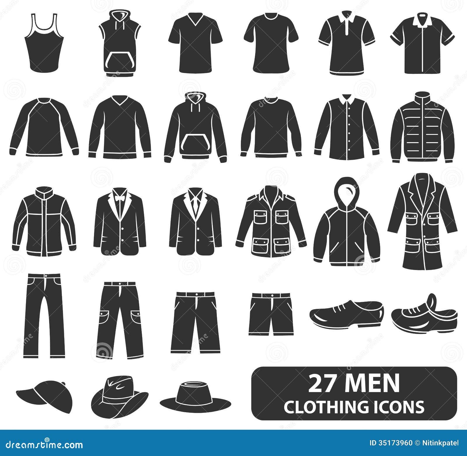 Men Clothing Icons Stock Photo Image 35173960