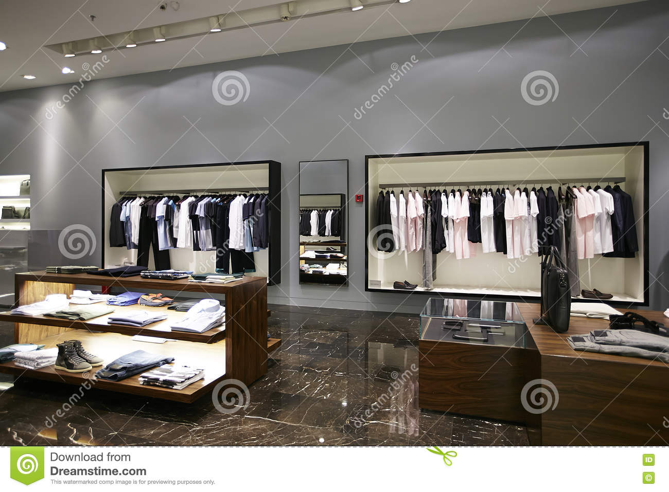 Model line clothing store
