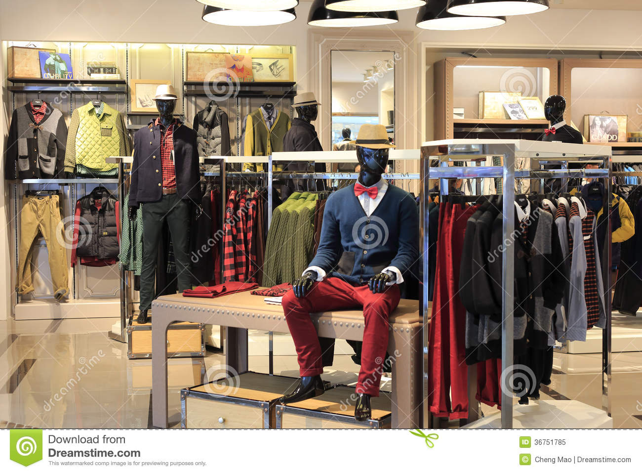 75b9c4ac70ea Men Clothing Store In Tesco Market Editorial Image - Image of center ...