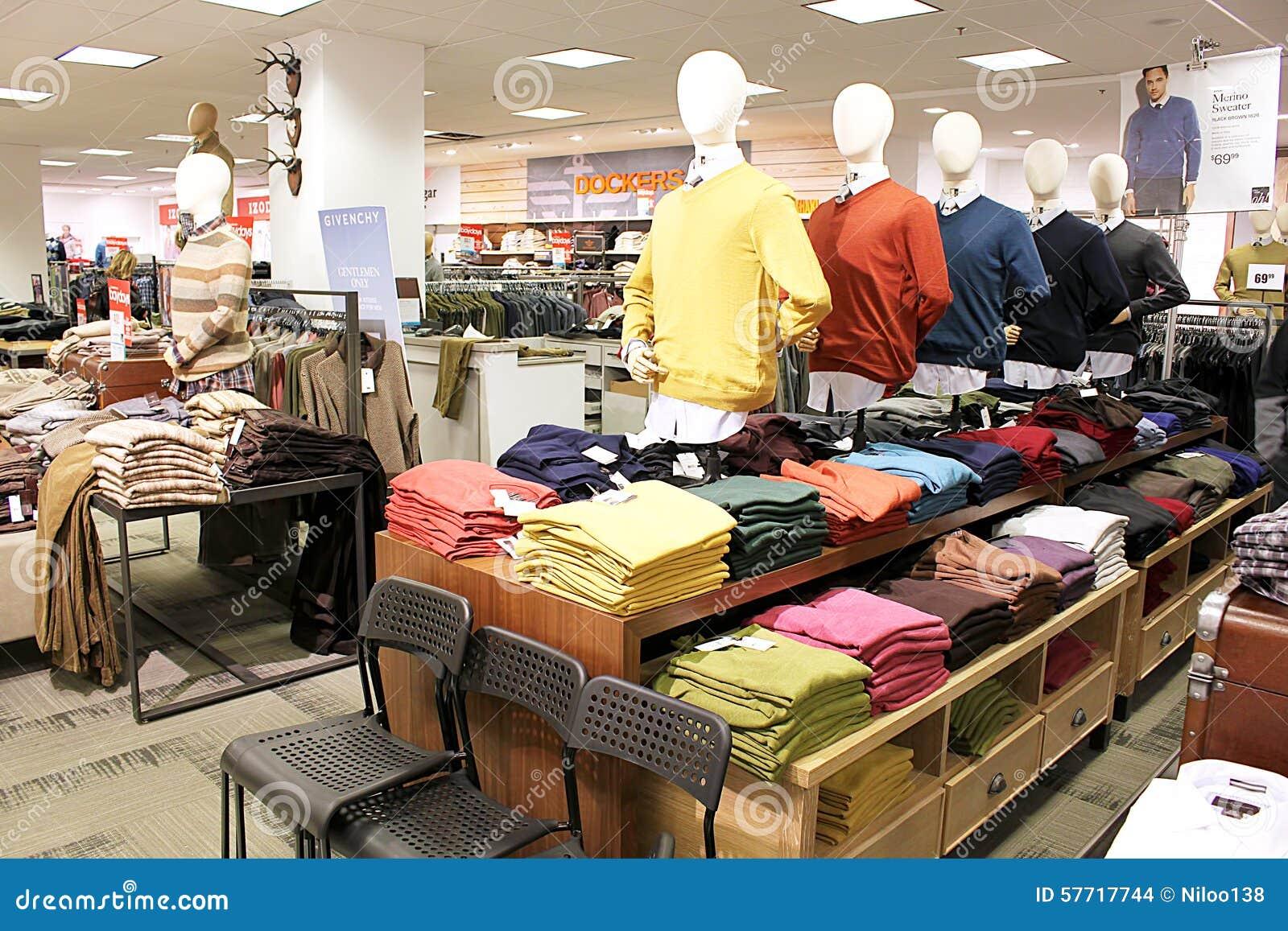 Clothes department stores