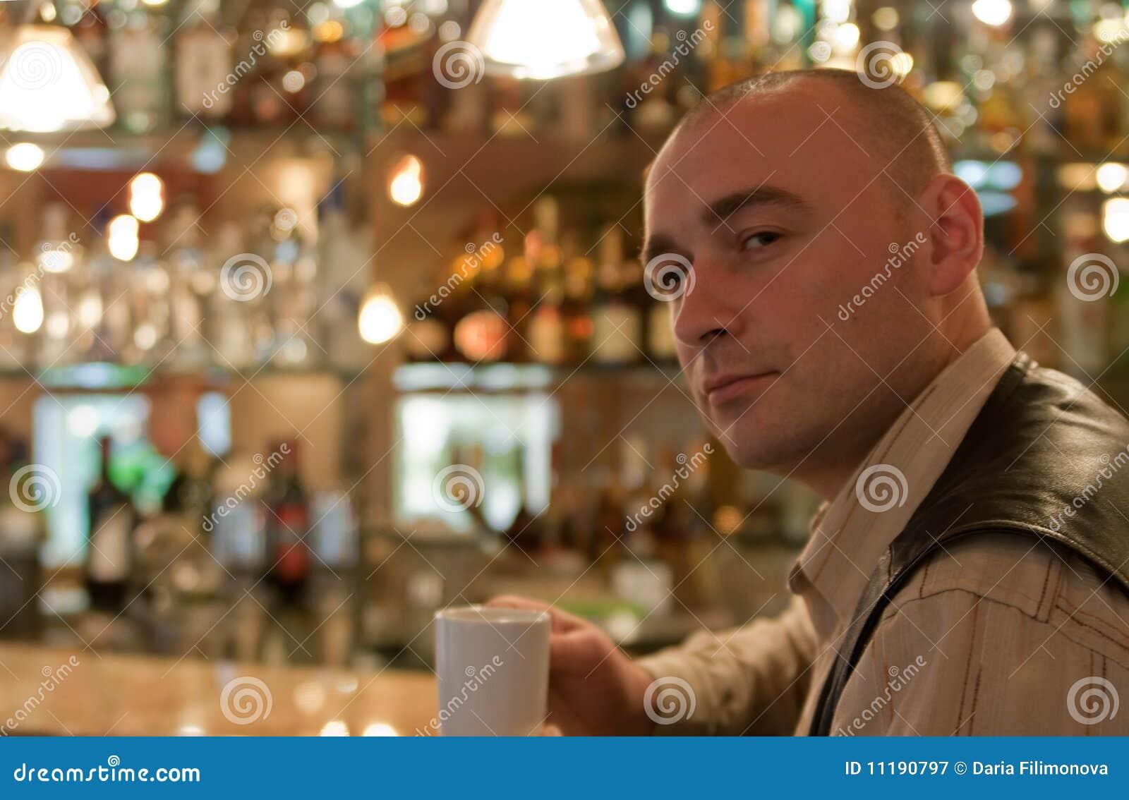 Men in coffee room