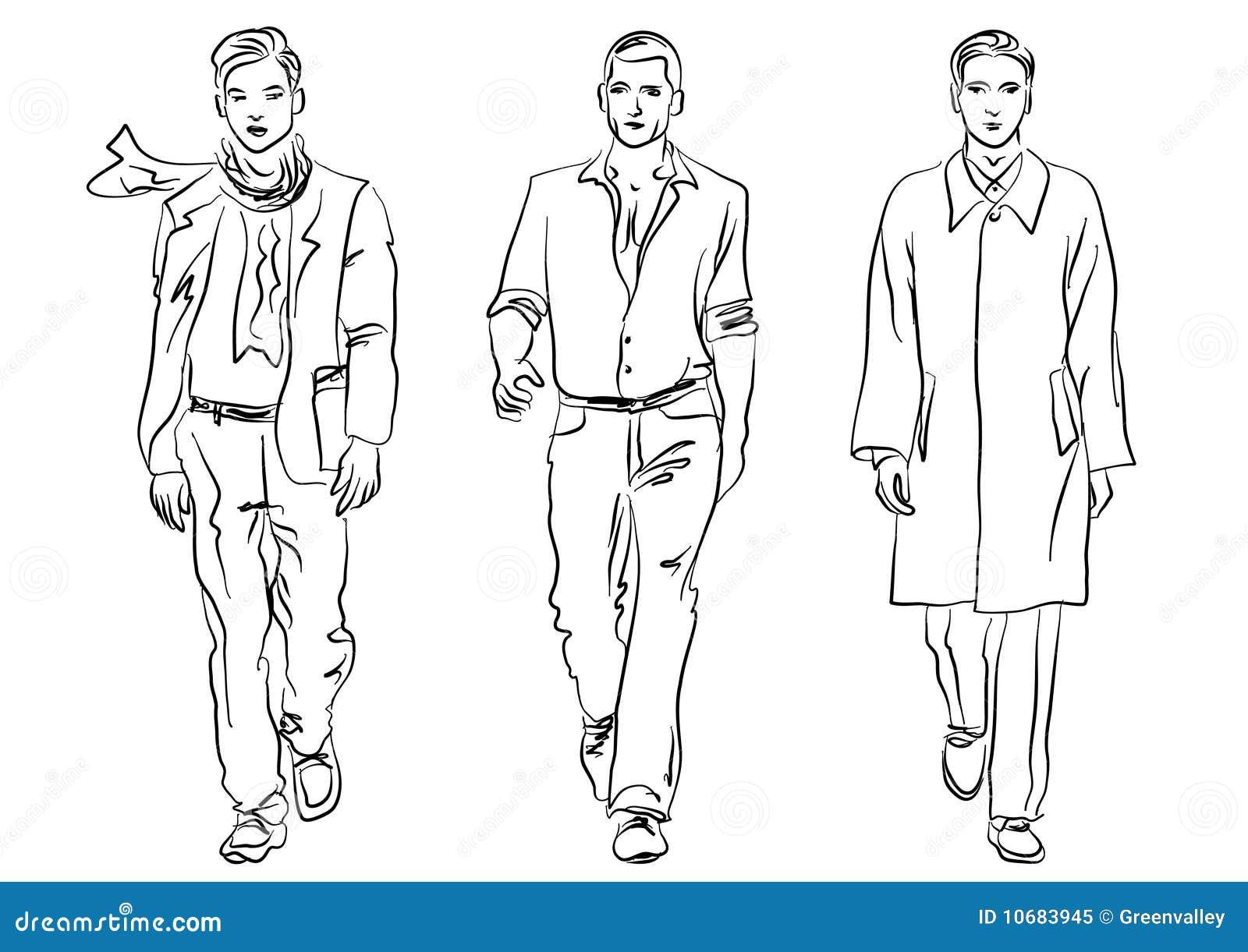 Fashion illustration face templates