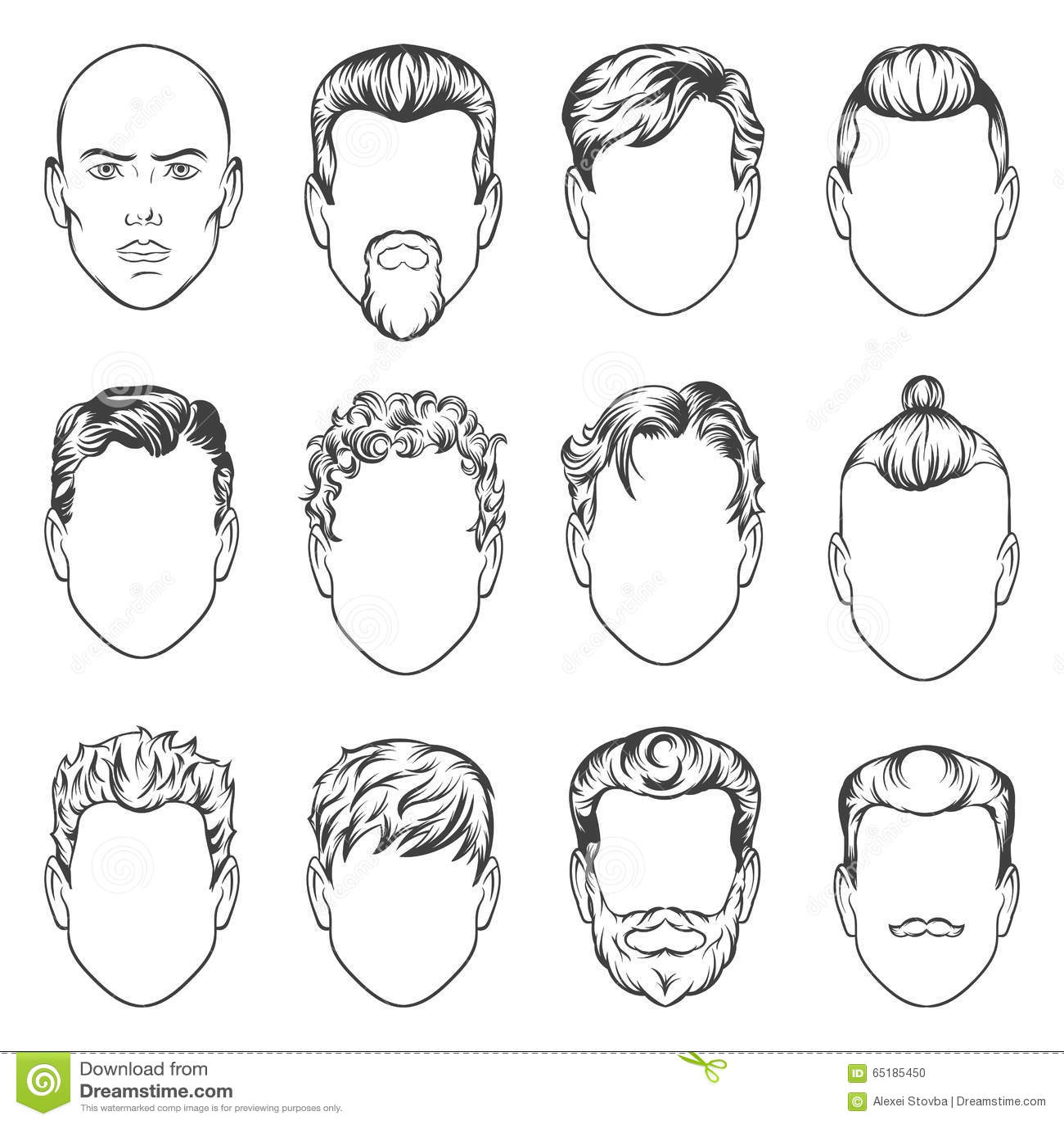 Мужские причёски как нарисовать