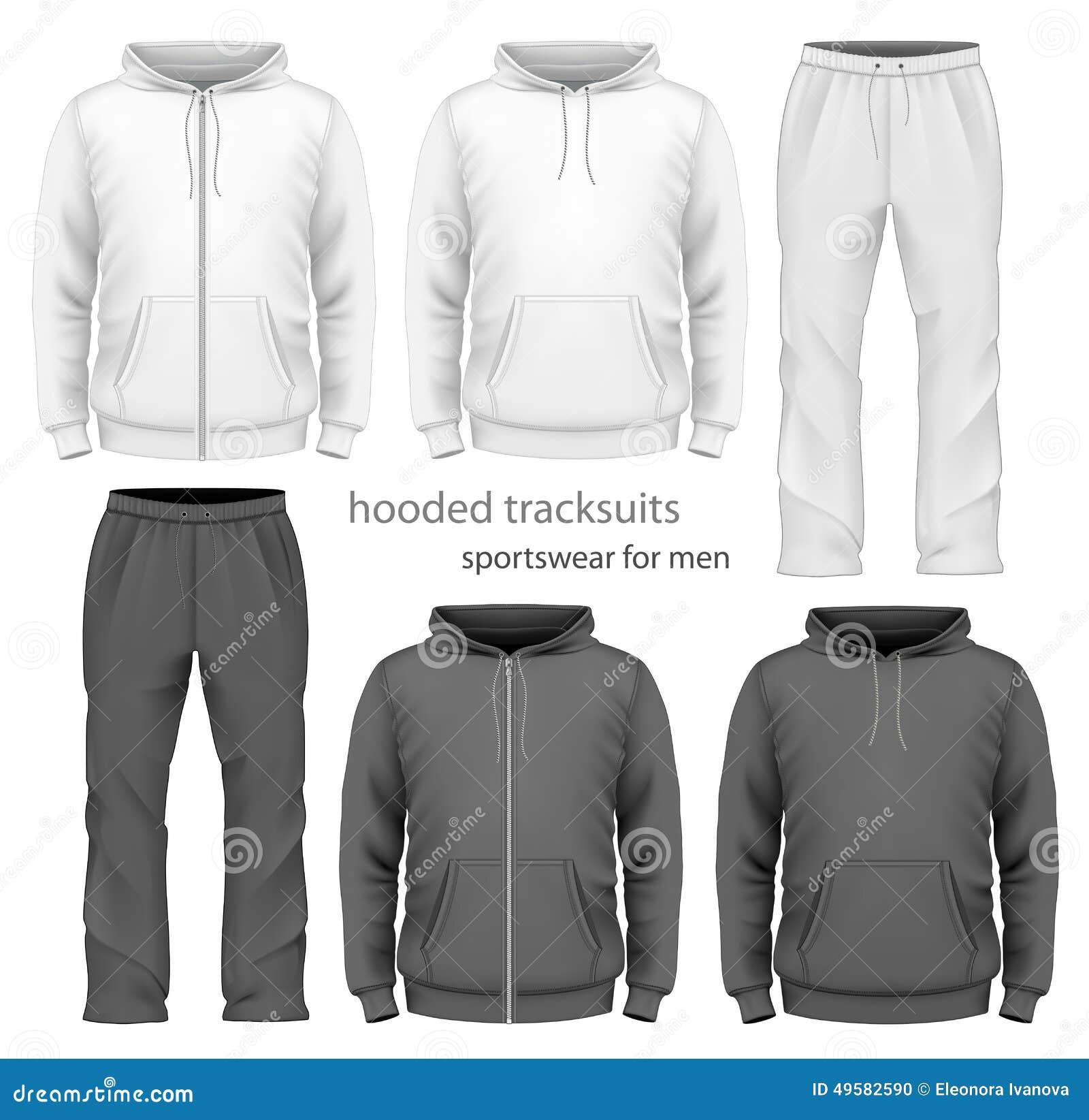 a14fd5972c4d Men hooded tracksuit. stock vector. Illustration of design - 49582590