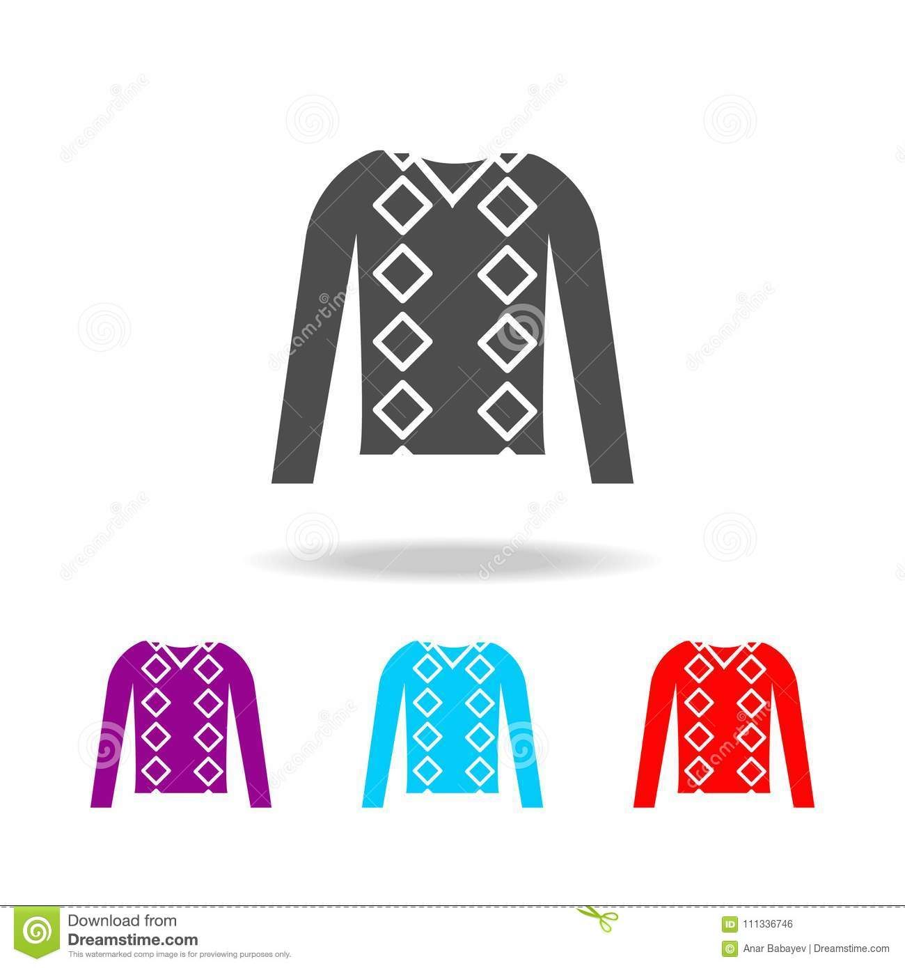 Men Jumper Clothes Icon Elements Of Clothes In Multi Colored Icons