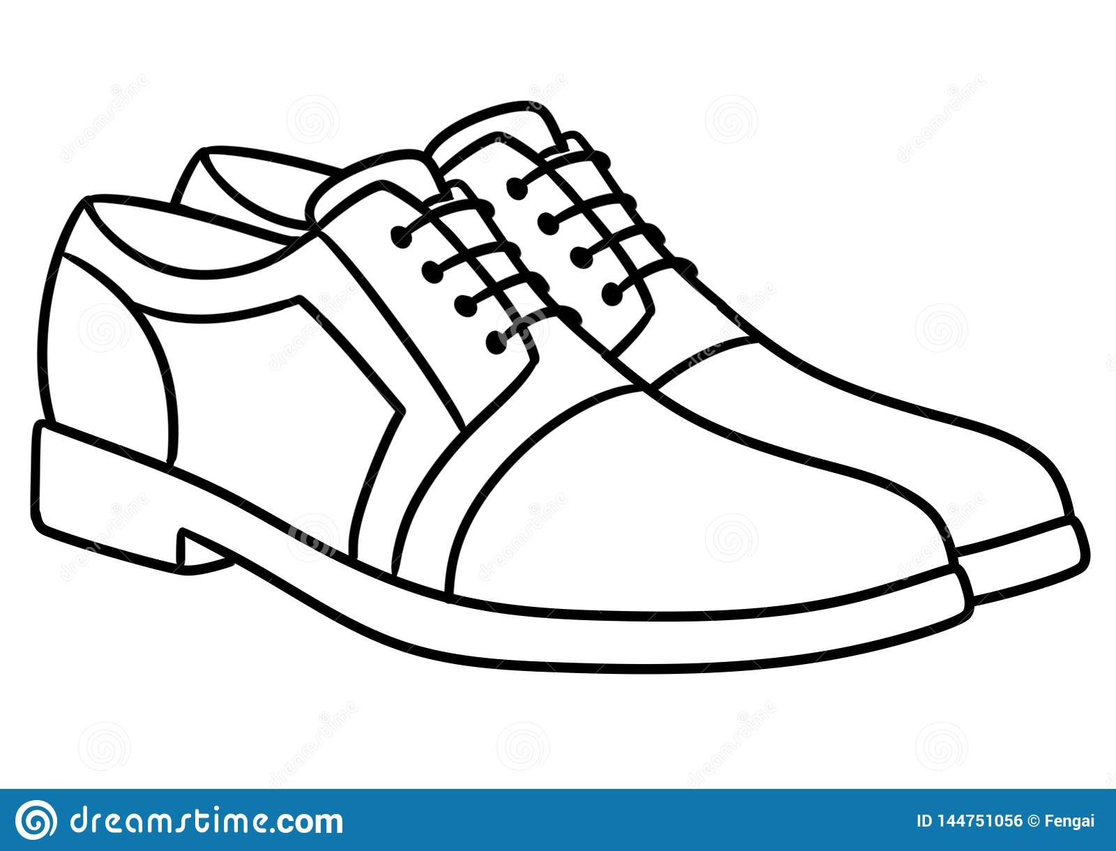 Men New Stylish Shoes Illustration Coloring Page Stock ...