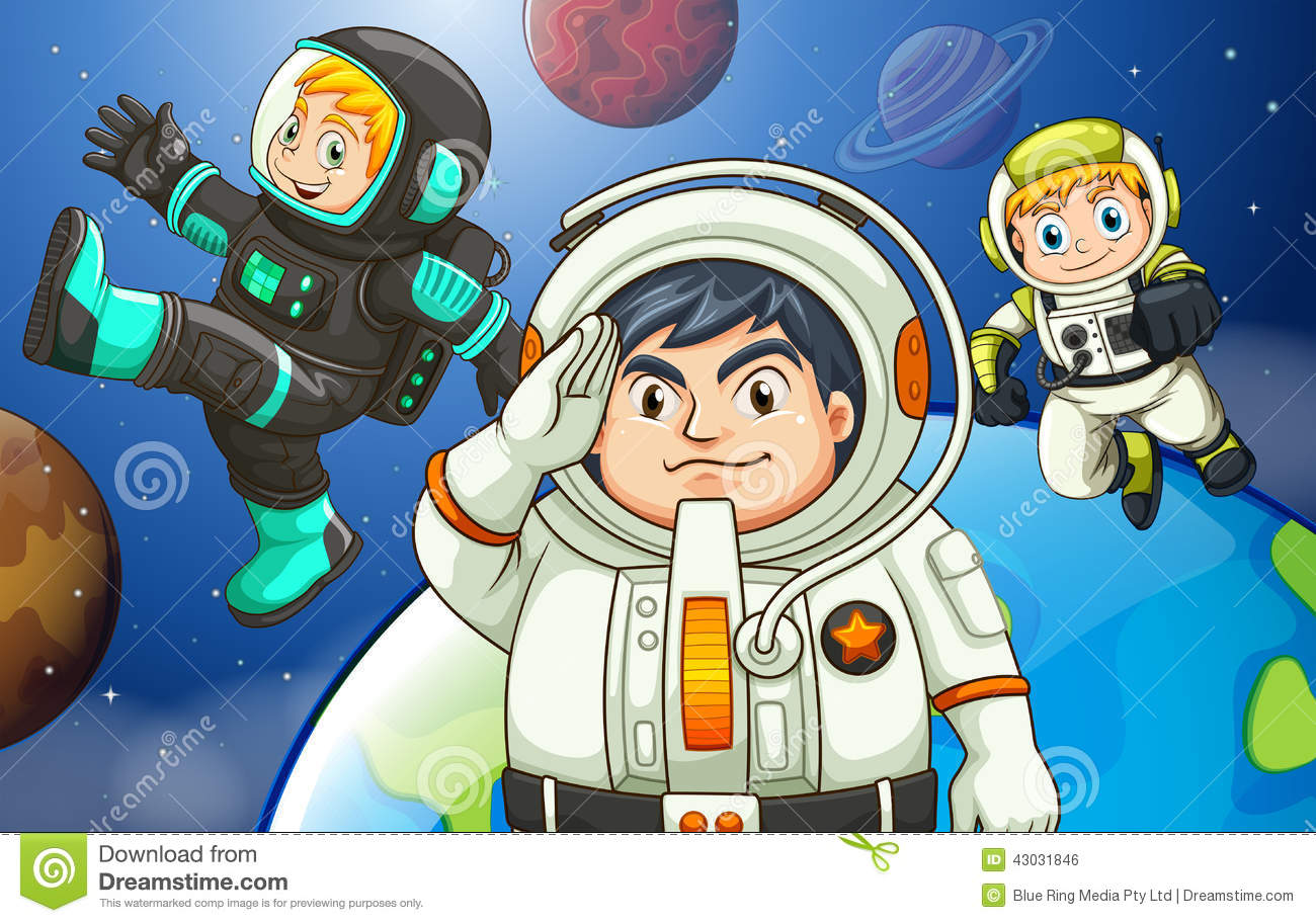 Men in the outerspace stock vector image 43031846 for Outer space design group pty ltd
