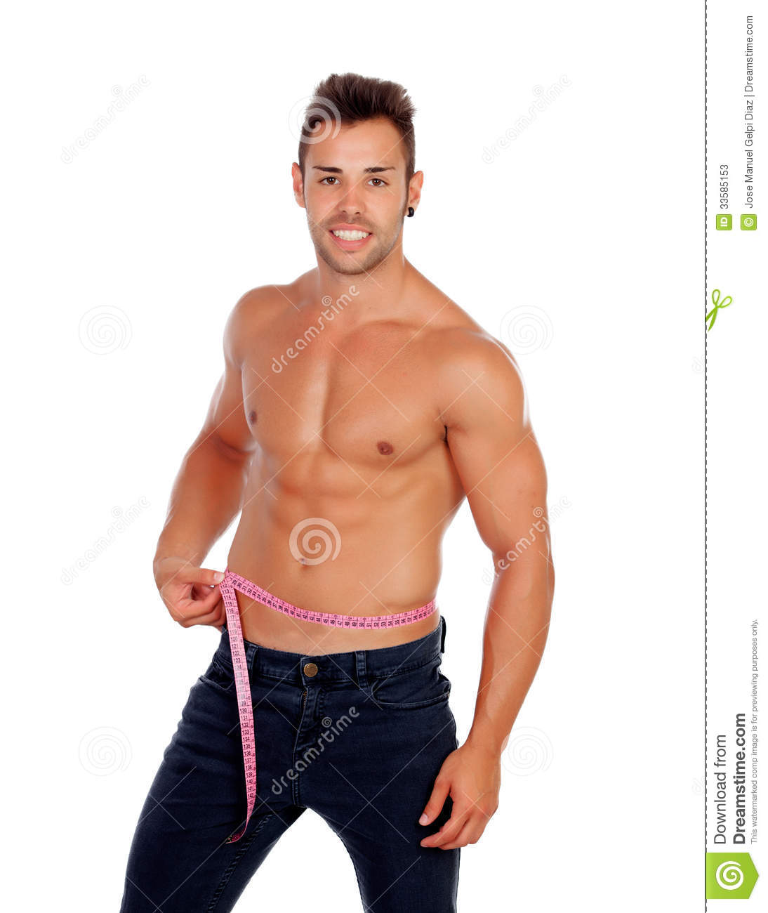 First, measure your waist size with a tape measure at the belly button. Do not measure your waist where your pants sit. This area is often smaller than your waist at the belly button. It is important to actually measure your waist size and not rely on your pant size.