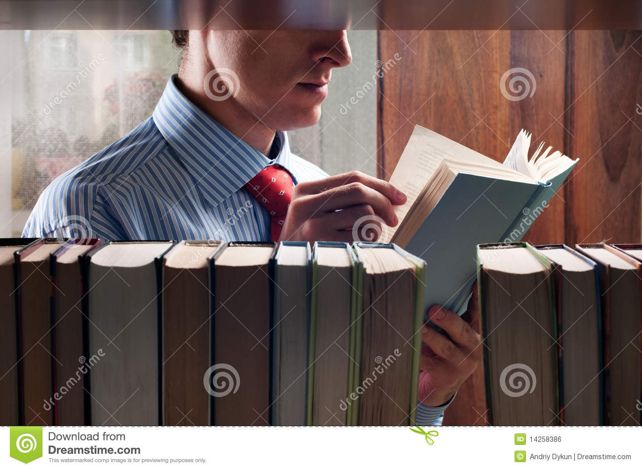 Men reading a book