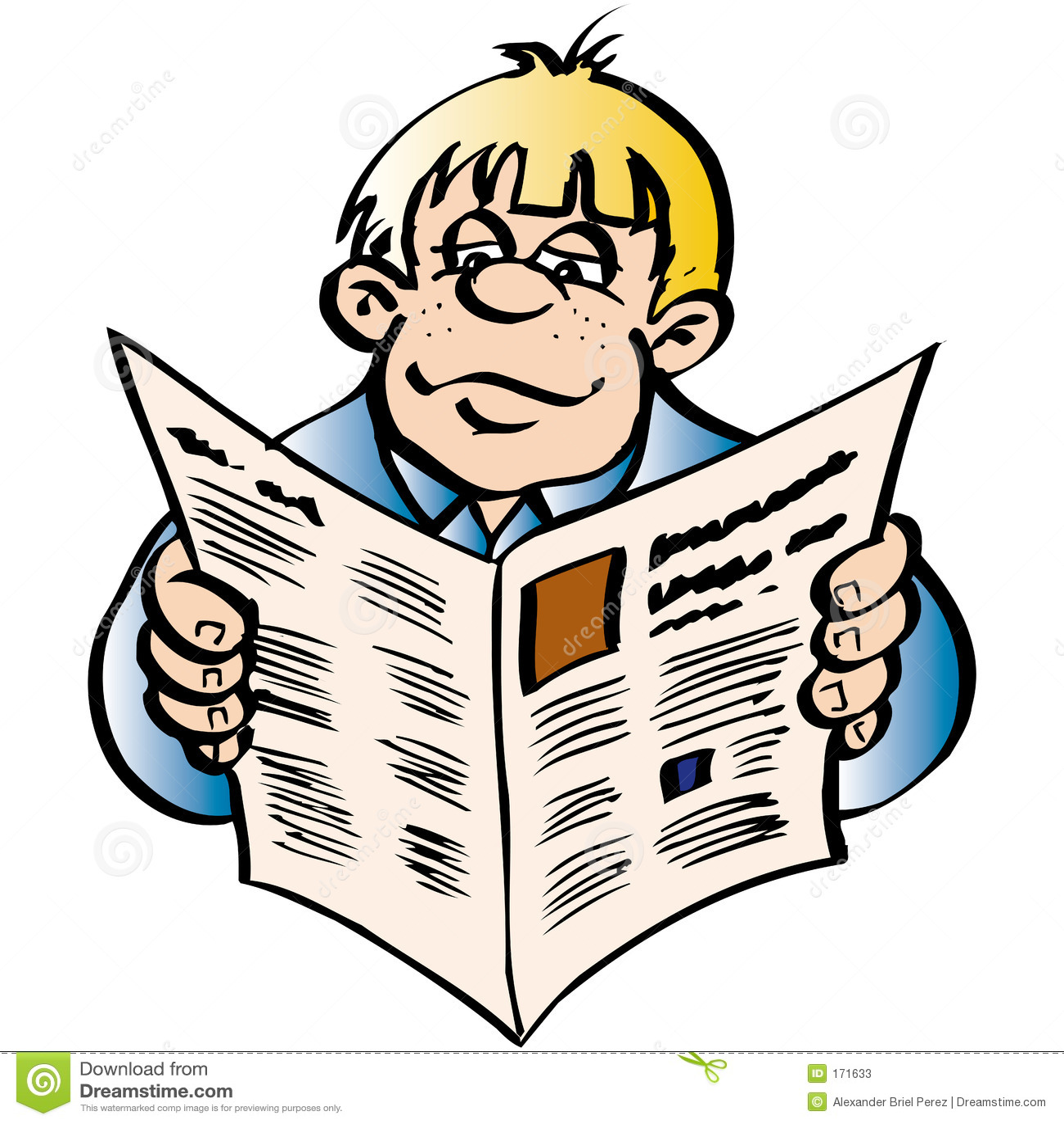Men reading the news