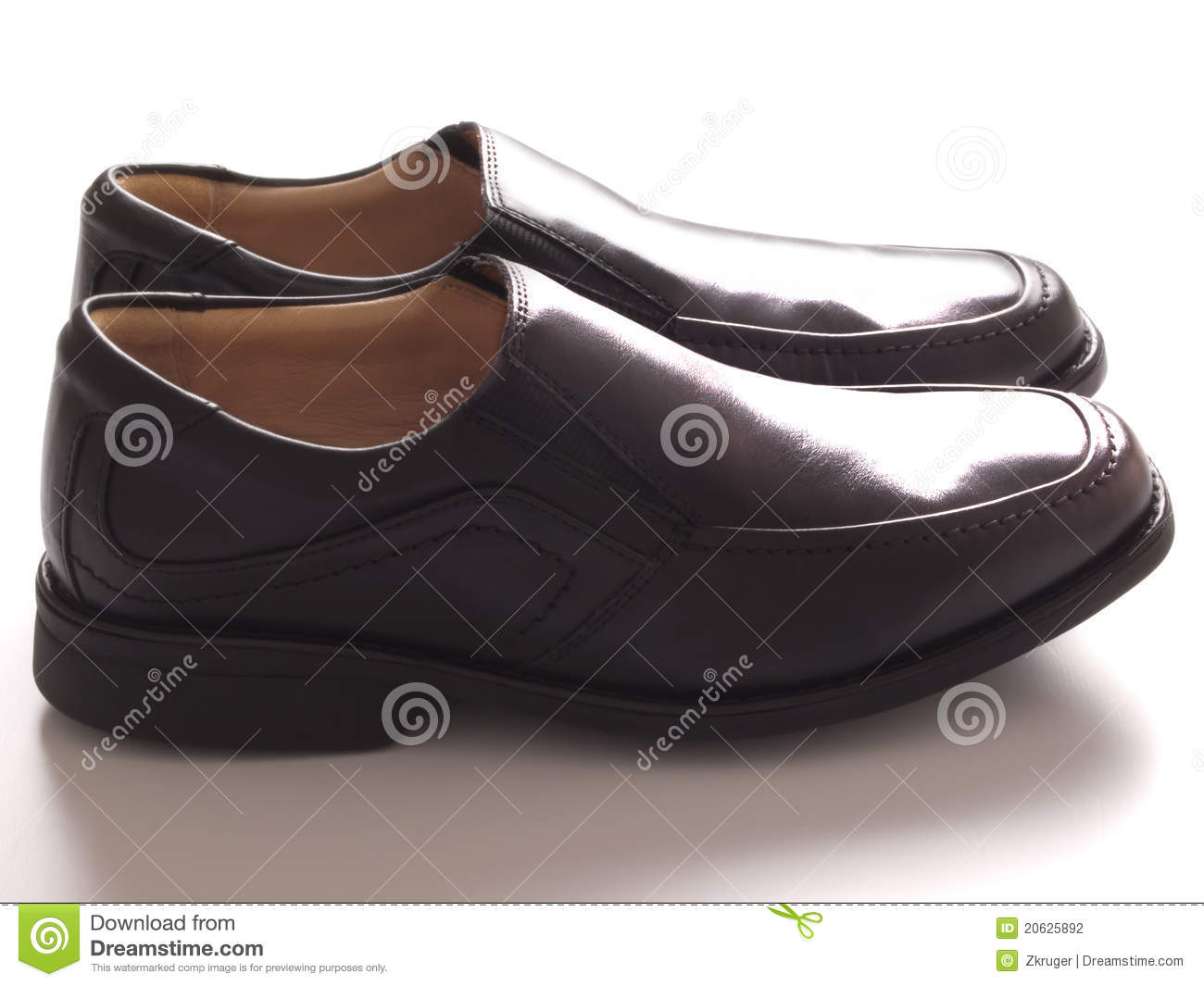 Stock Photography: Men s black business shoes