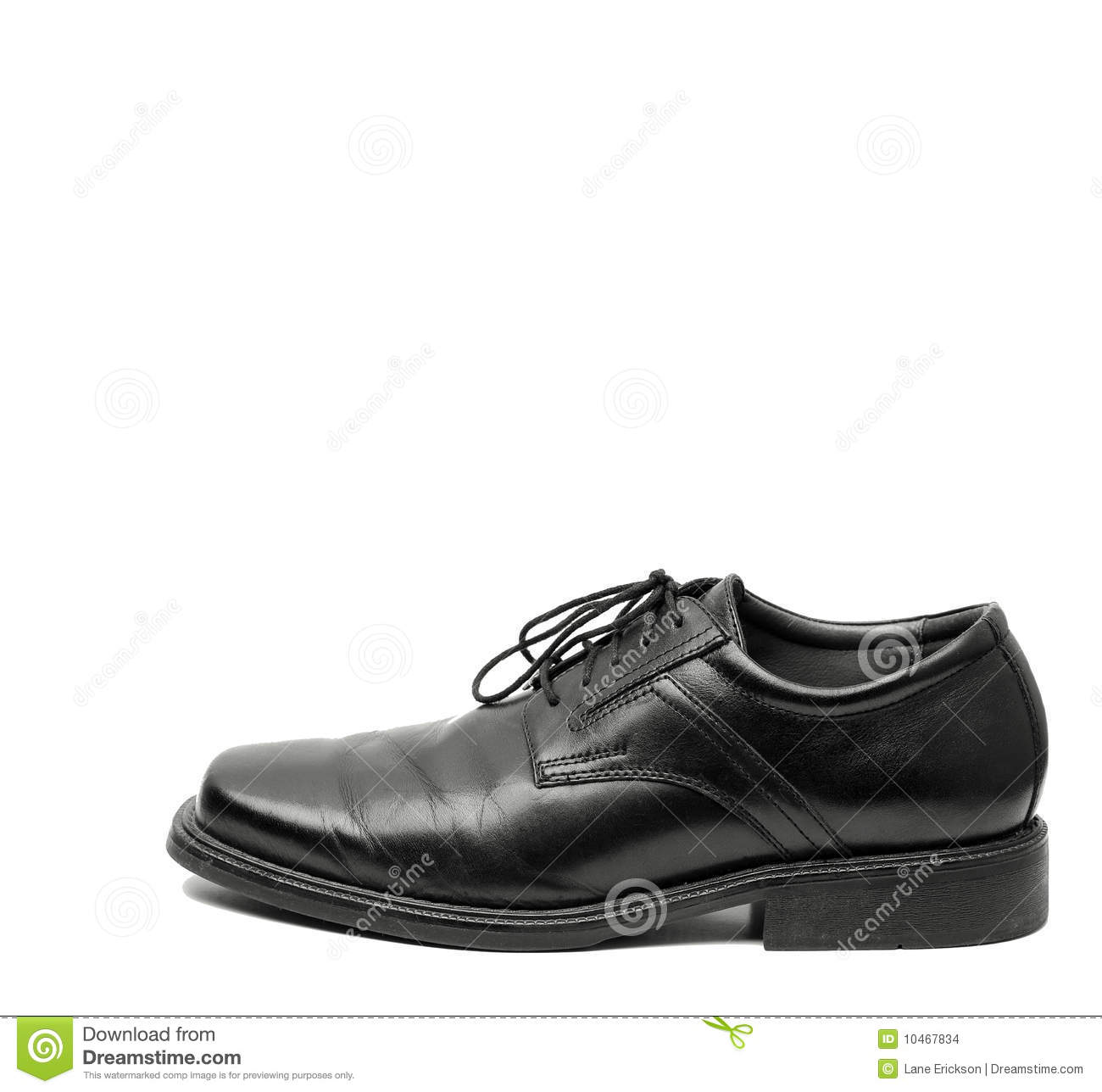 Men's black dress shoe isolated on white background