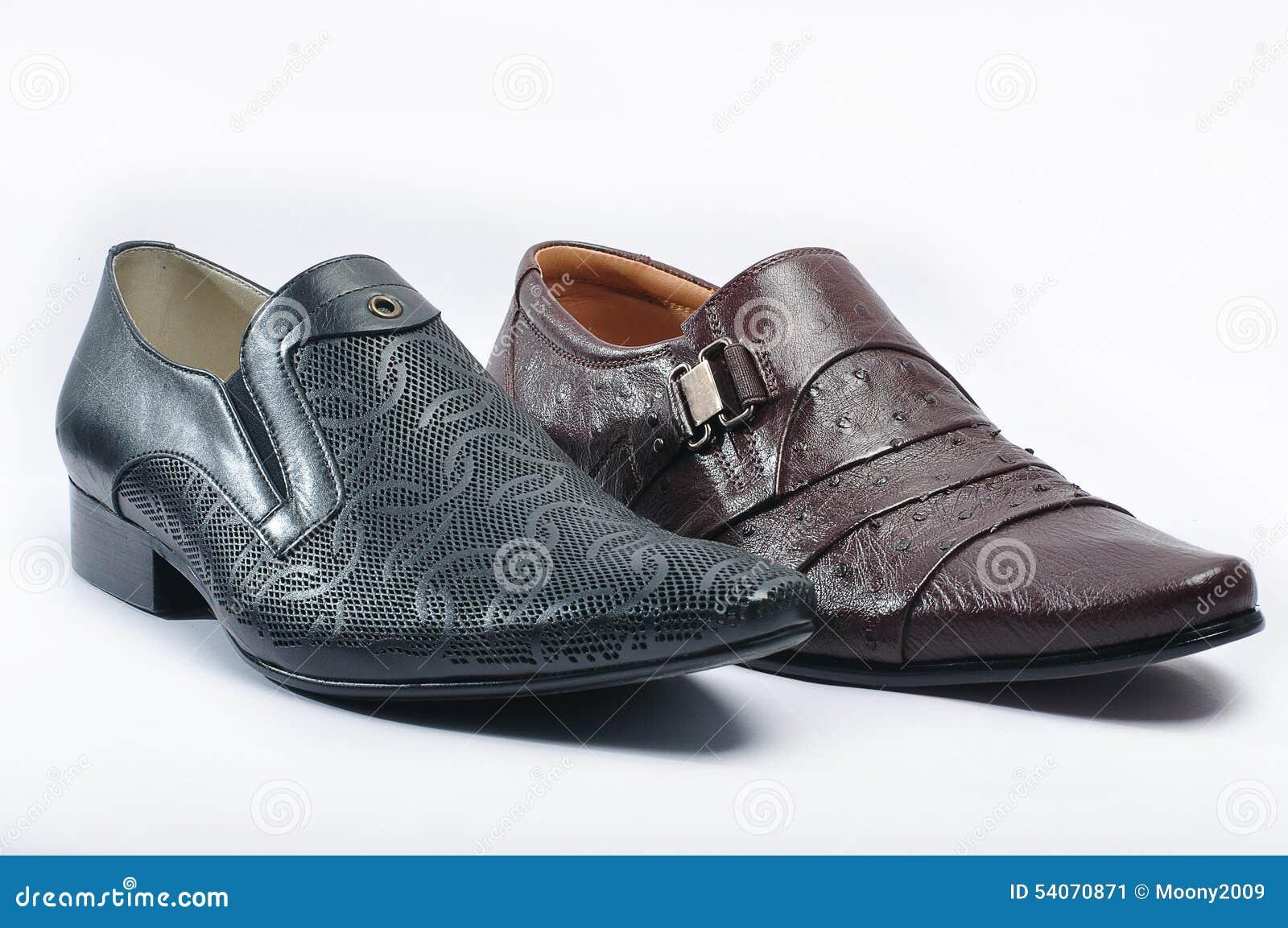 Men S Black Snakeskin Shoes Stock Image