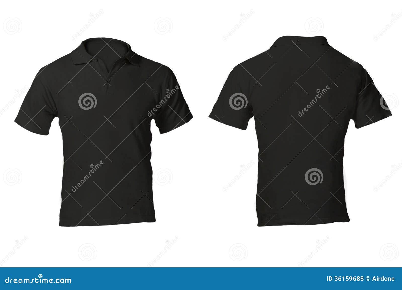 Men 39 S Blank Black Polo Shirt Template Stock Photo Image
