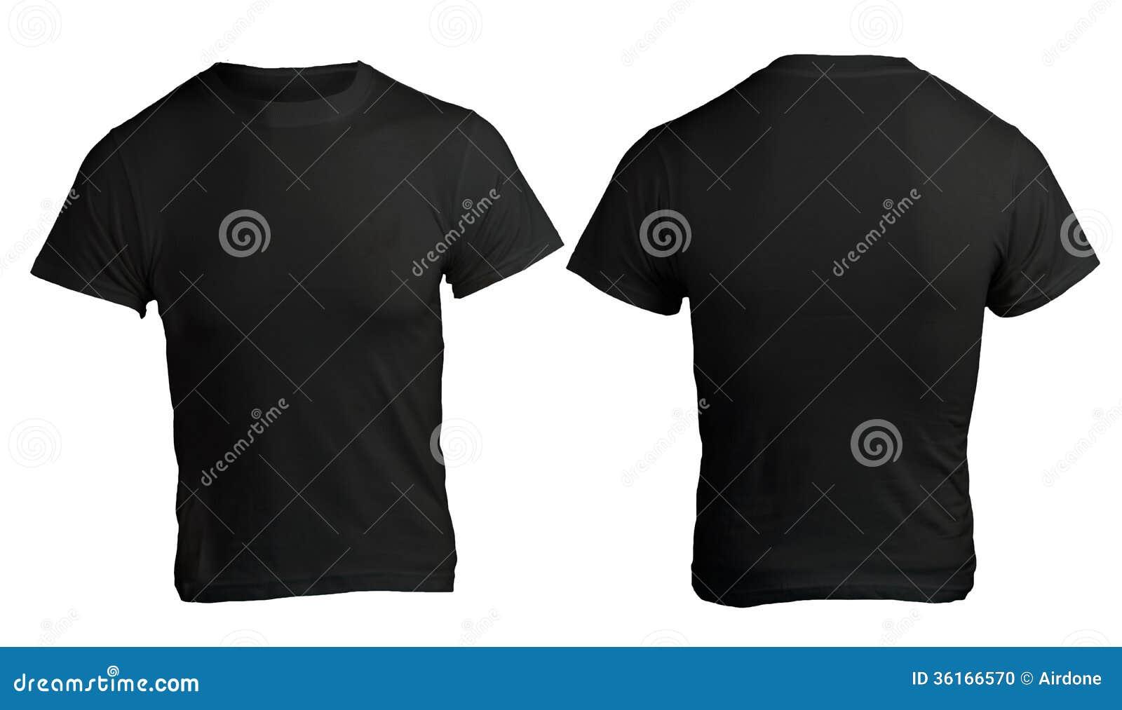Black t shirt front - Men S Blank Black Shirt Template Stock Photo