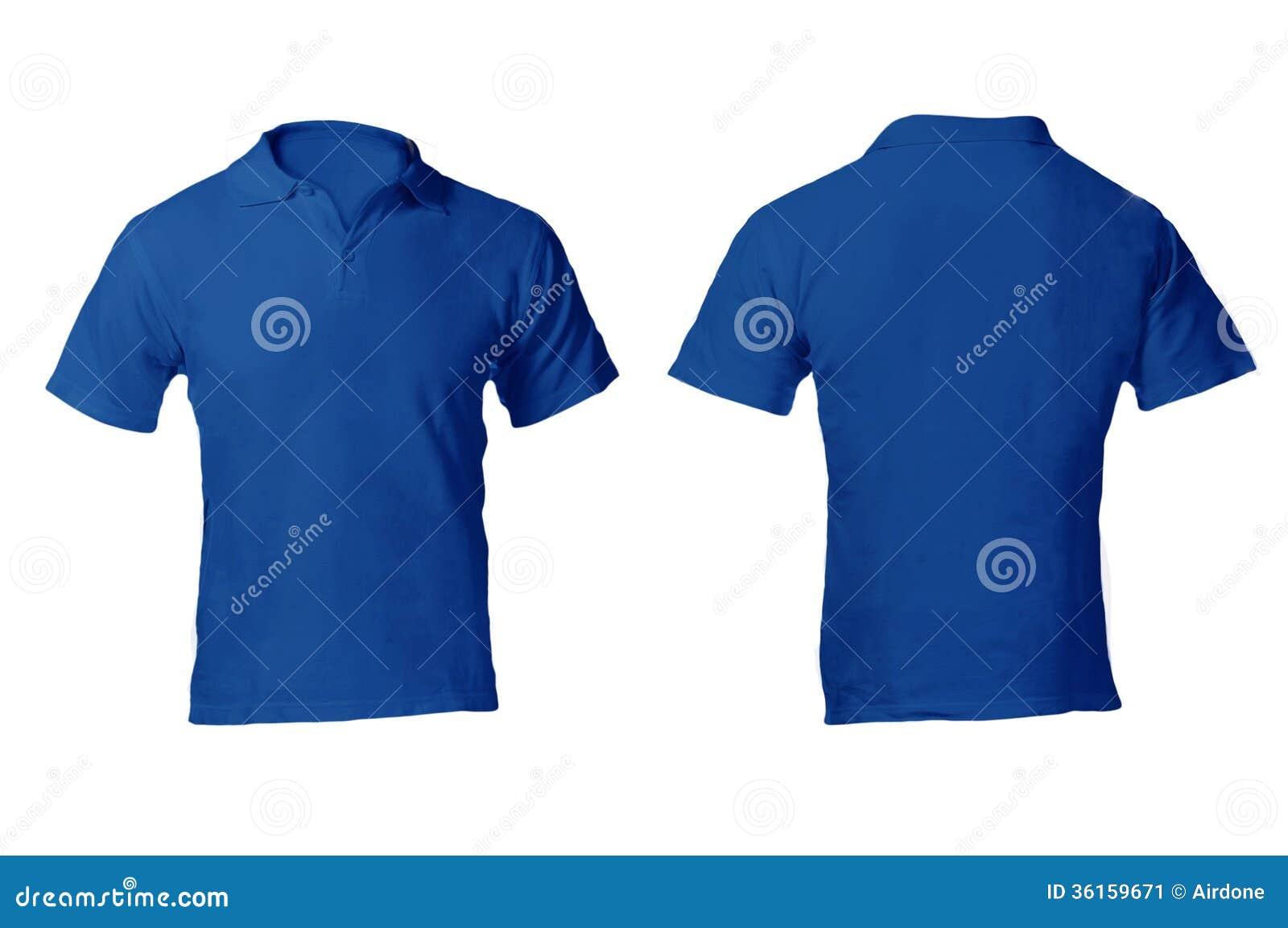 Mens Blank Blue Polo Shirt Template Stock Photo 36159671 Megapixl