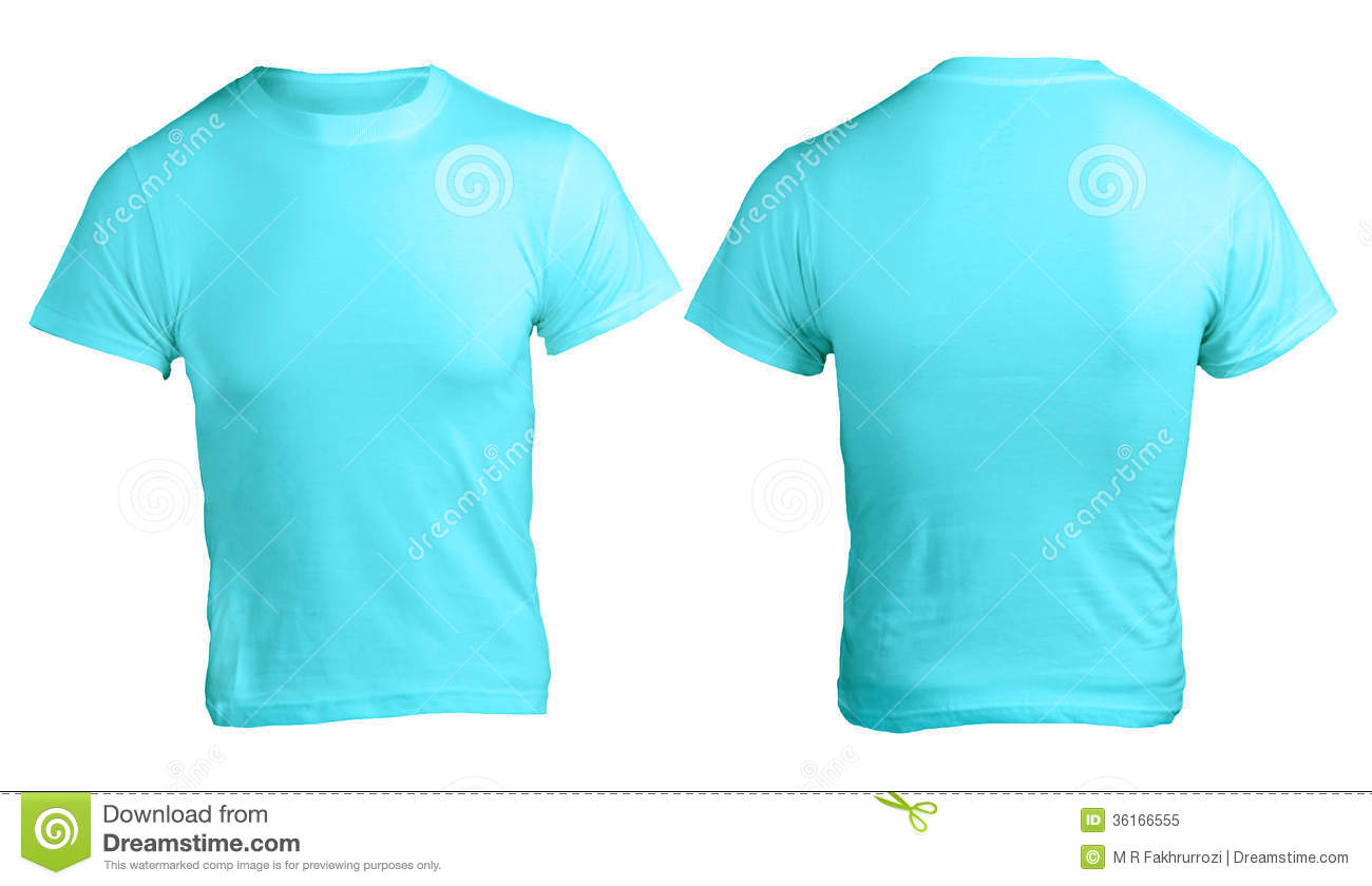 Men's Blank Blue Shirt Template Royalty Free Stock Photo - Image ...