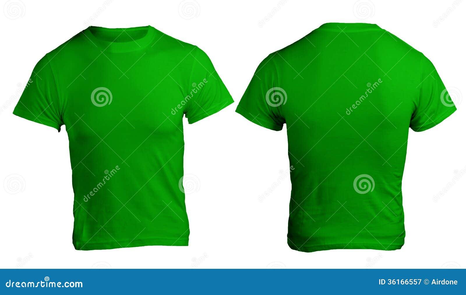 Shirt design green - Men S Blank Green Shirt Template