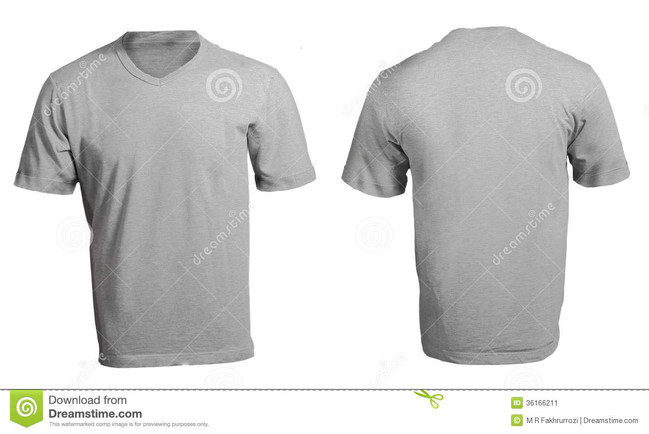 Blank black t shirt front and back - Men S Blank Grey V Neck Shirt Template Stock Image