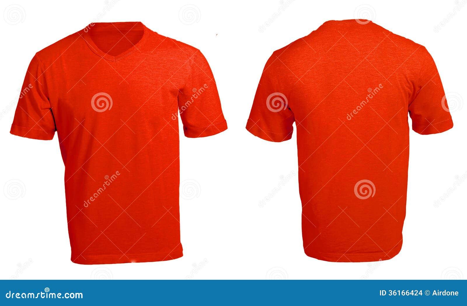 Design shirt v neck - Men S Blank Red V Neck Shirt Template Stock Images
