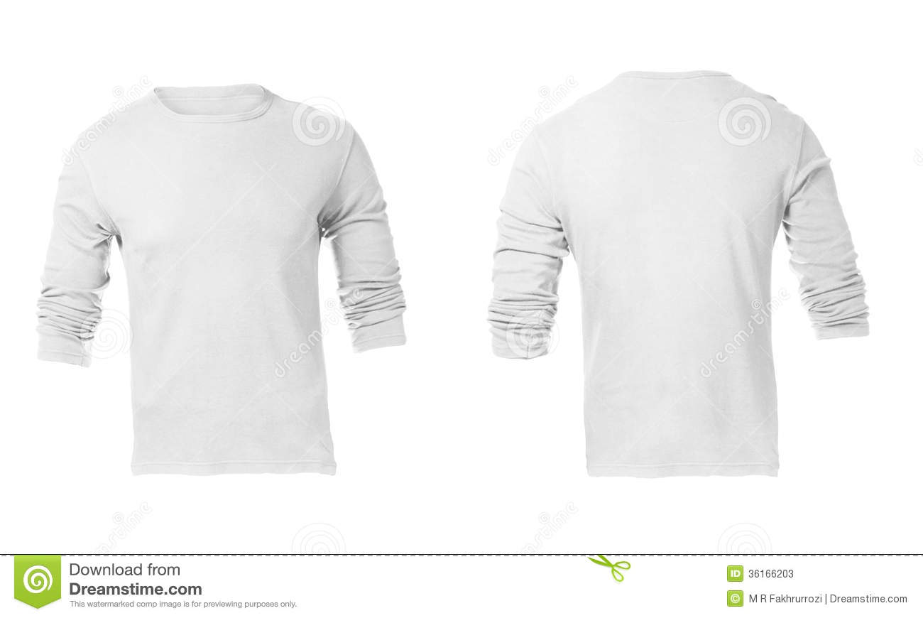 86dc2d5f90f3 Men's Blank White Long Sleeved Shirt Template Stock Image - Image of ...