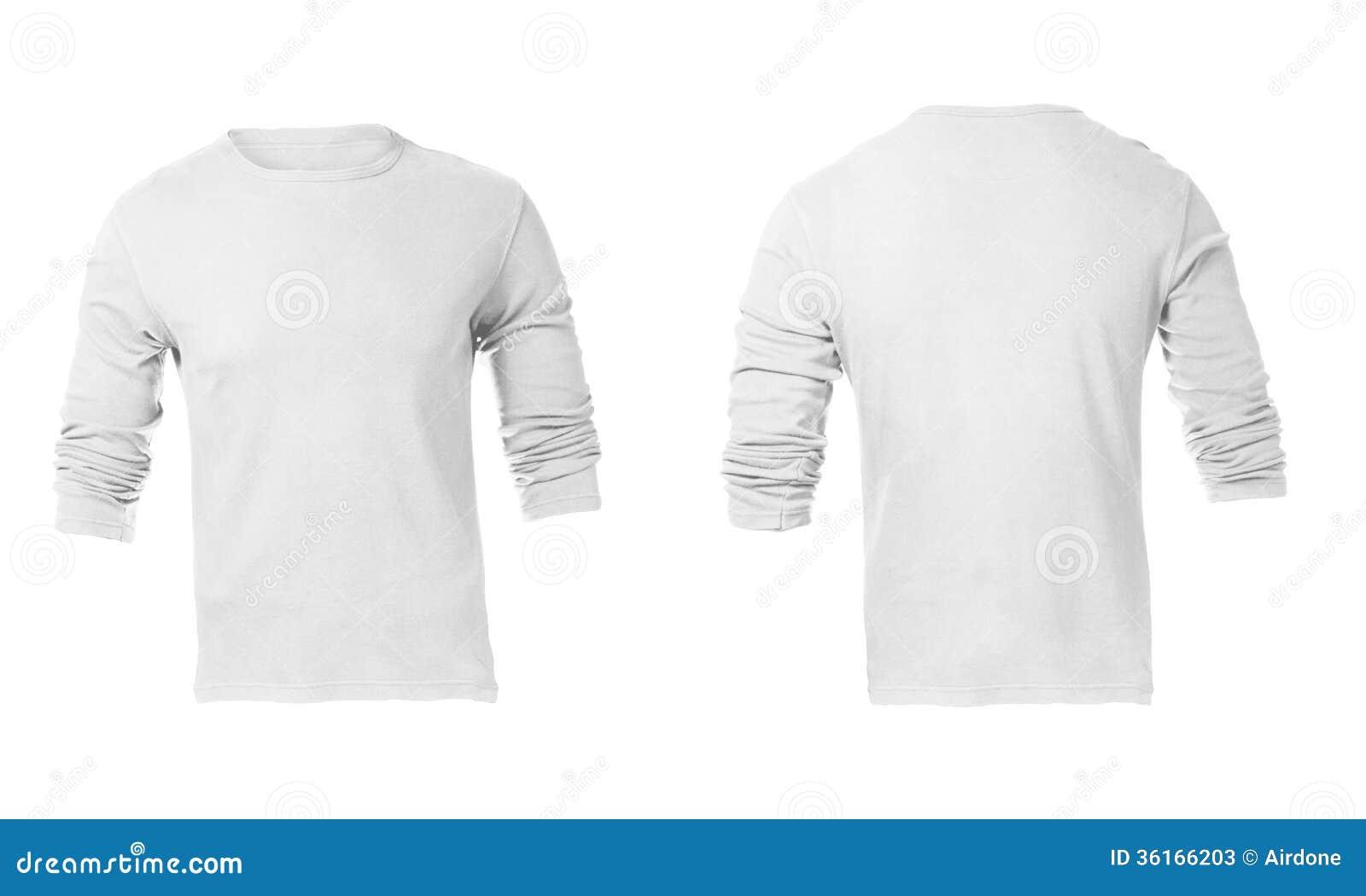 Men S Blank White Long Sleeved Shirt Template Stock Image Image Of