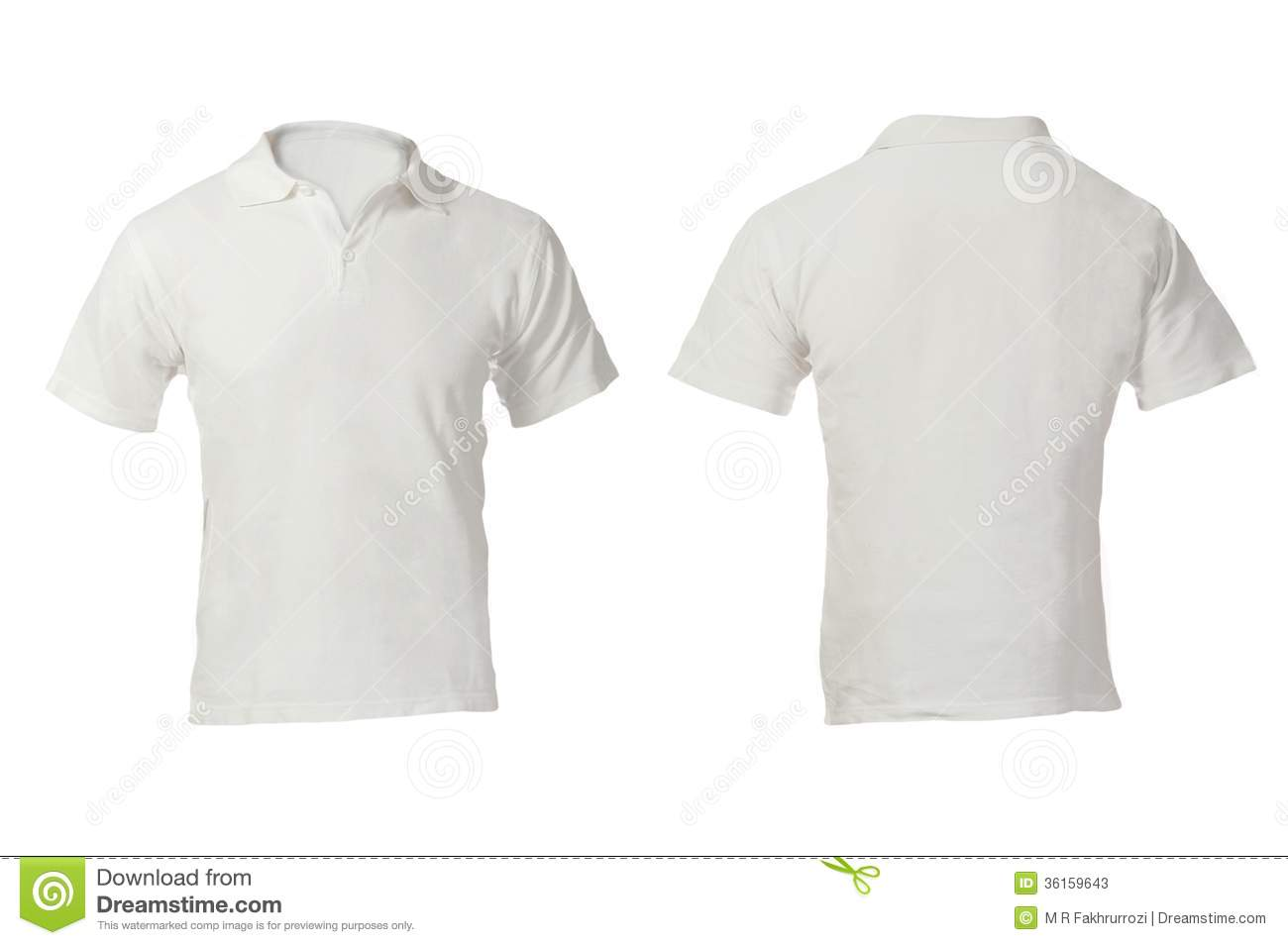 Men S Blank White Polo Shirt Template