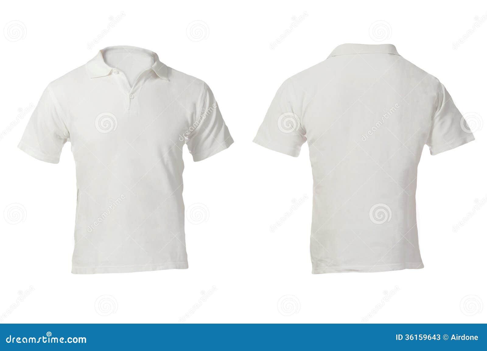 Men's Blank White Polo Shirt Template Stock Photos - Image: 36159643