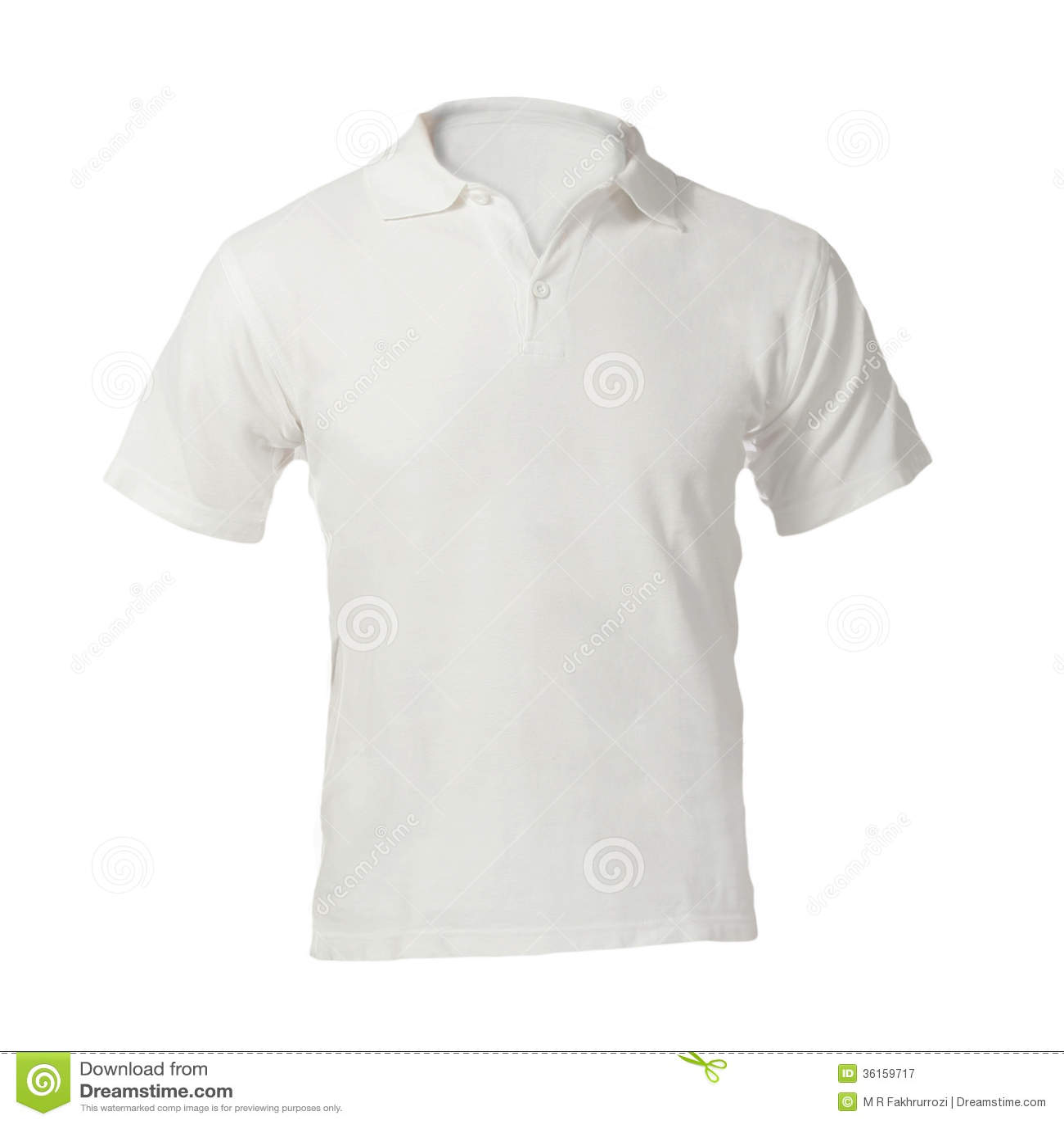 0d6e1731 Men's Blank White Polo Shirt Template Stock Image - Image of tshirt ...