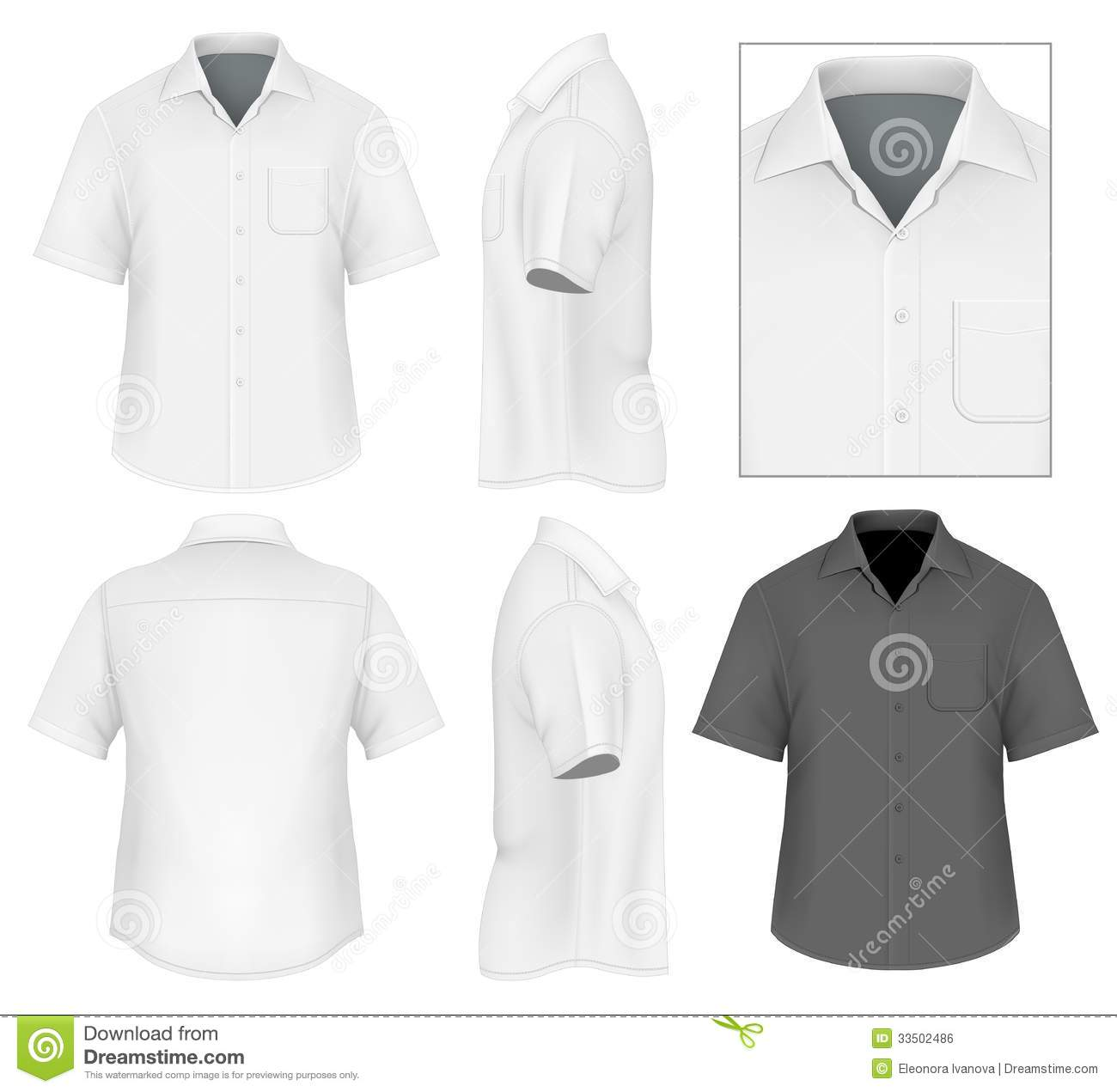 Men's Button Down Shirt Design Template Royalty Free Stock Image ...
