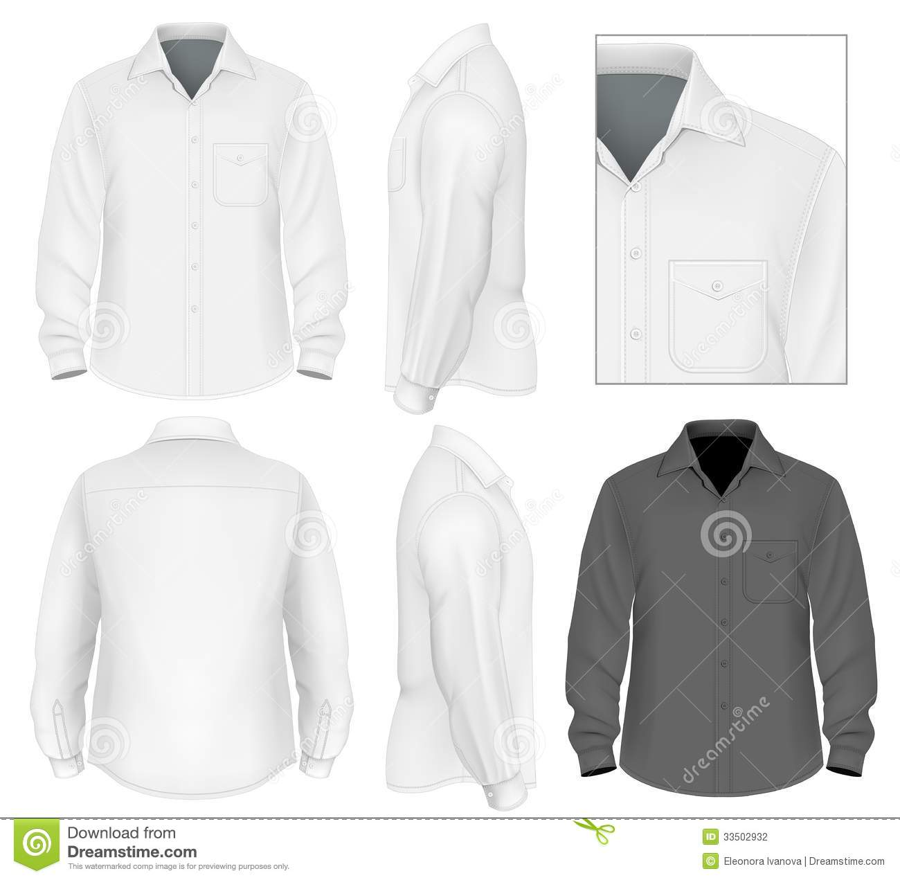Men's Button Down Shirt Long Sleeve Stock Photography - Image ...