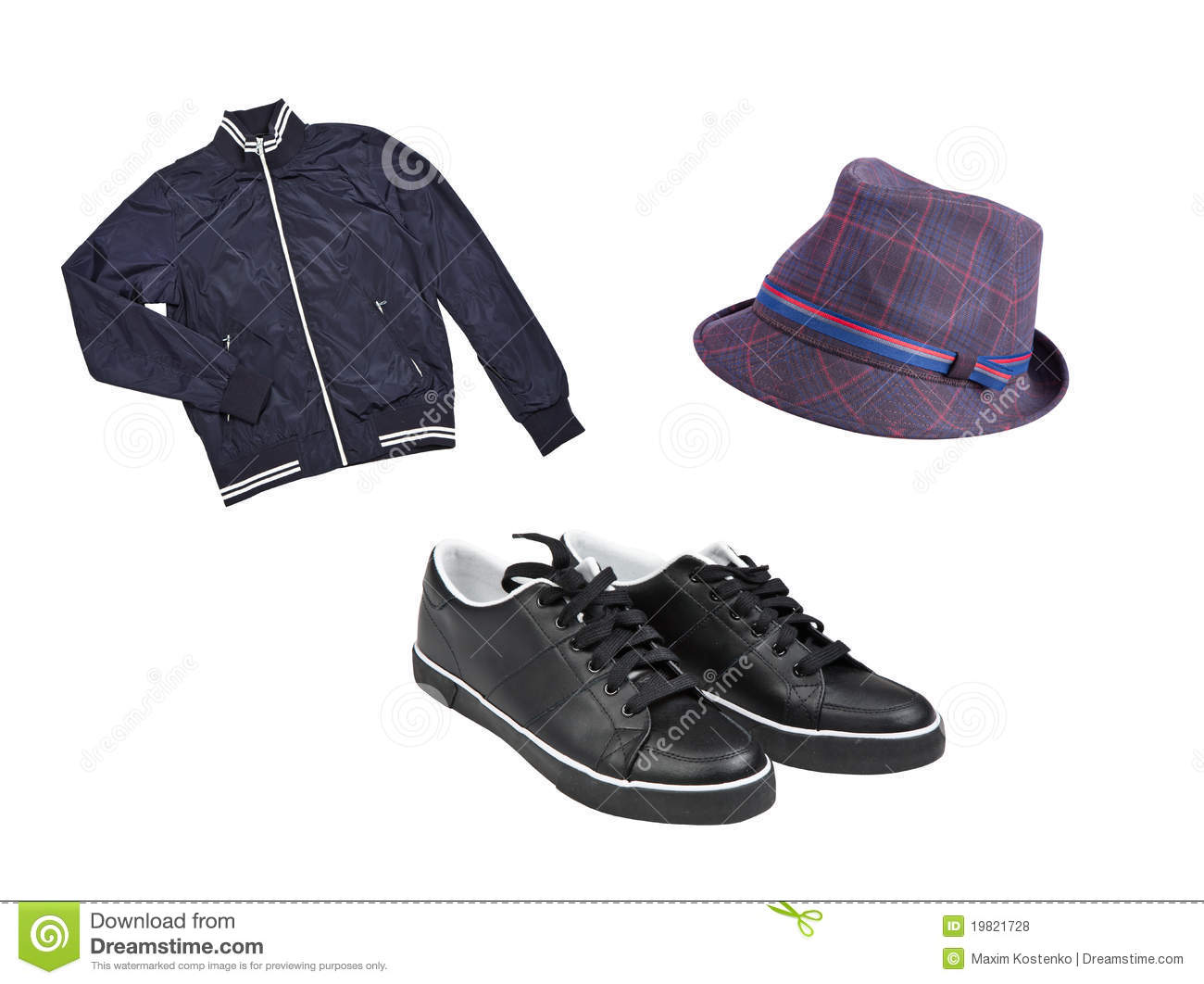 s casual wear and shoes royalty free stock photos