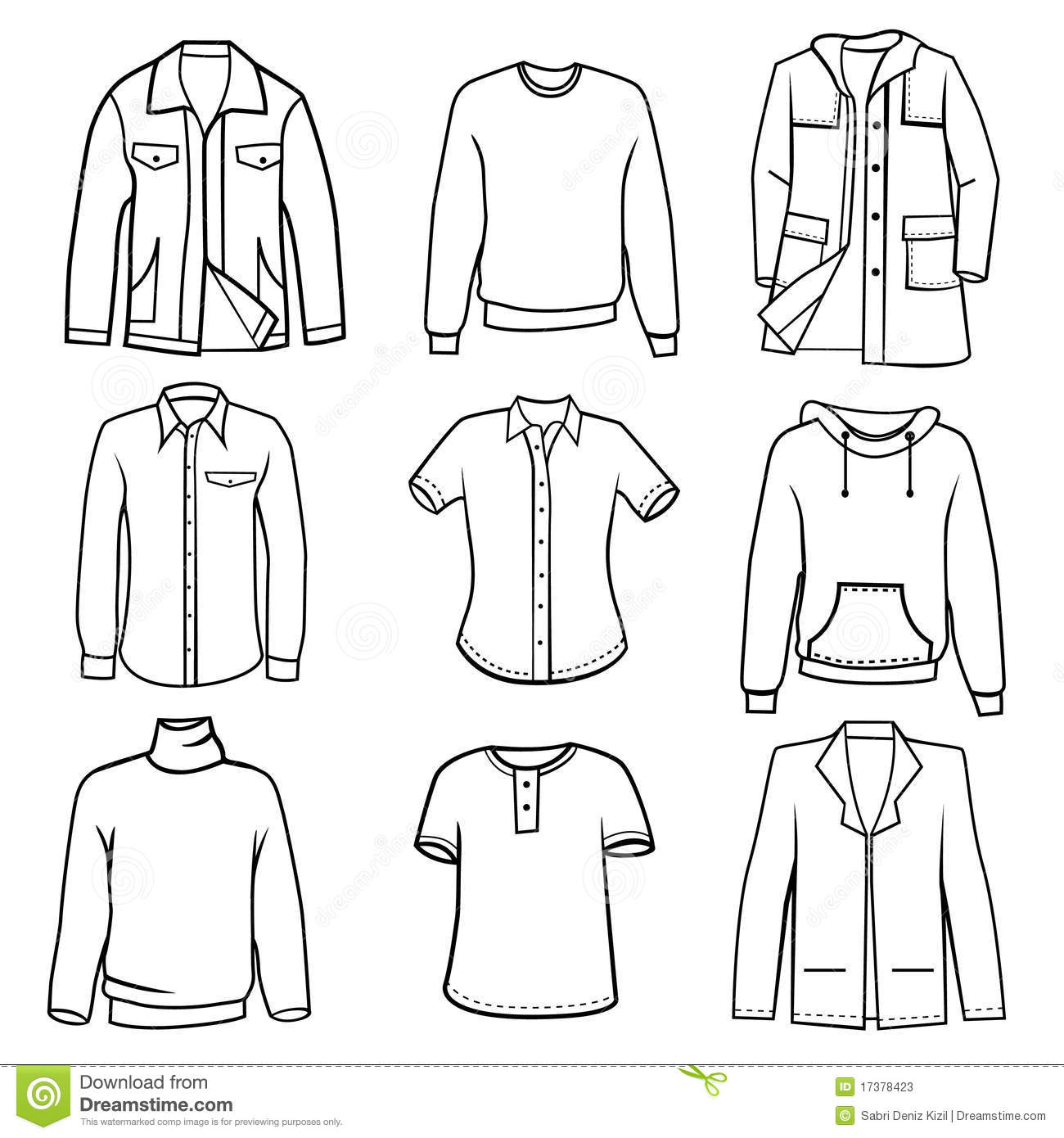 clothes coloring pages - men 39 s clothes stock vector image of illustration sleeve