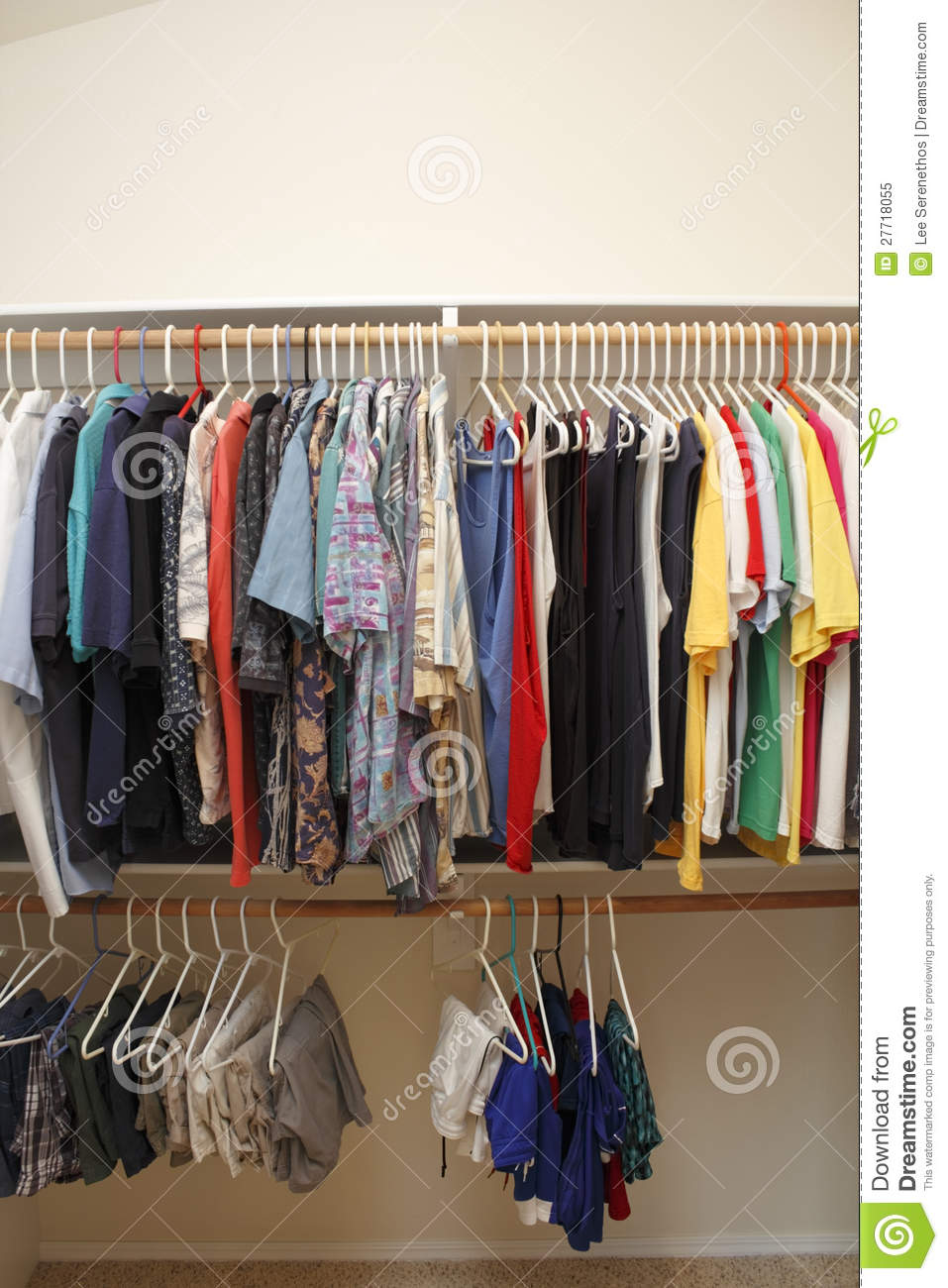 s clothes in a closet royalty free stock photo image