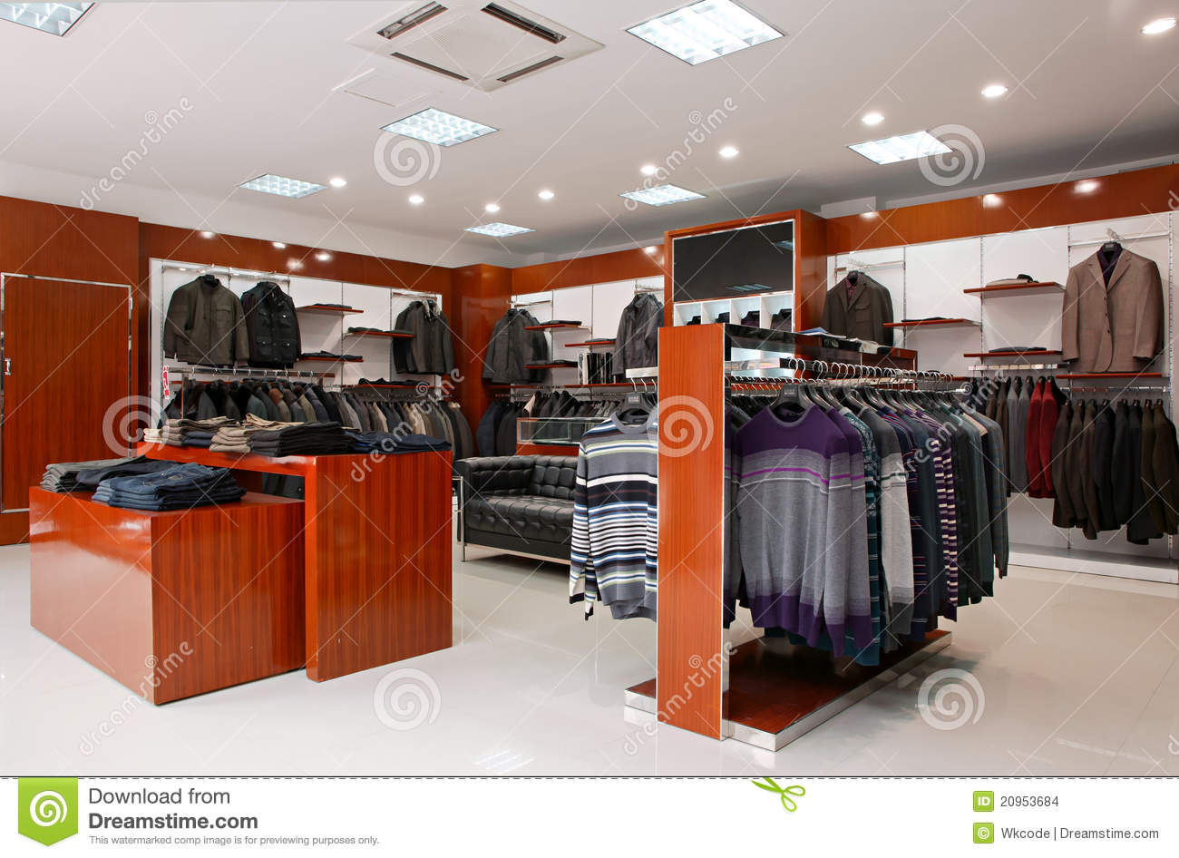Men's Clothing Store Stock Images - Image: 20953684