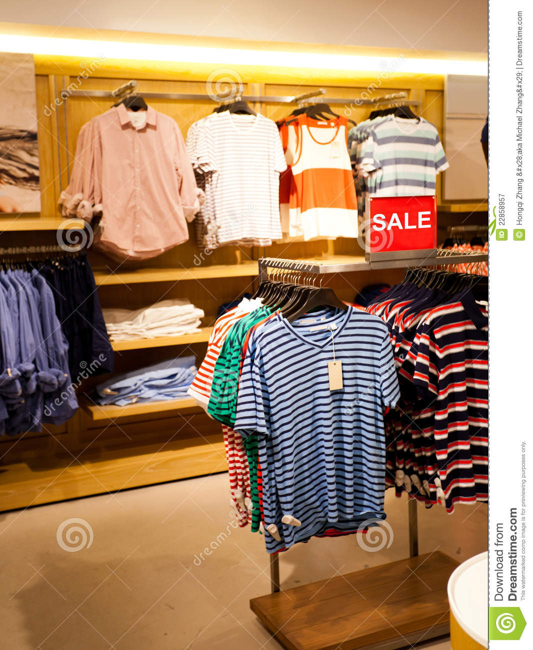 Men's Clothing Store Royalty Free Stock Photography - Image: 22858957