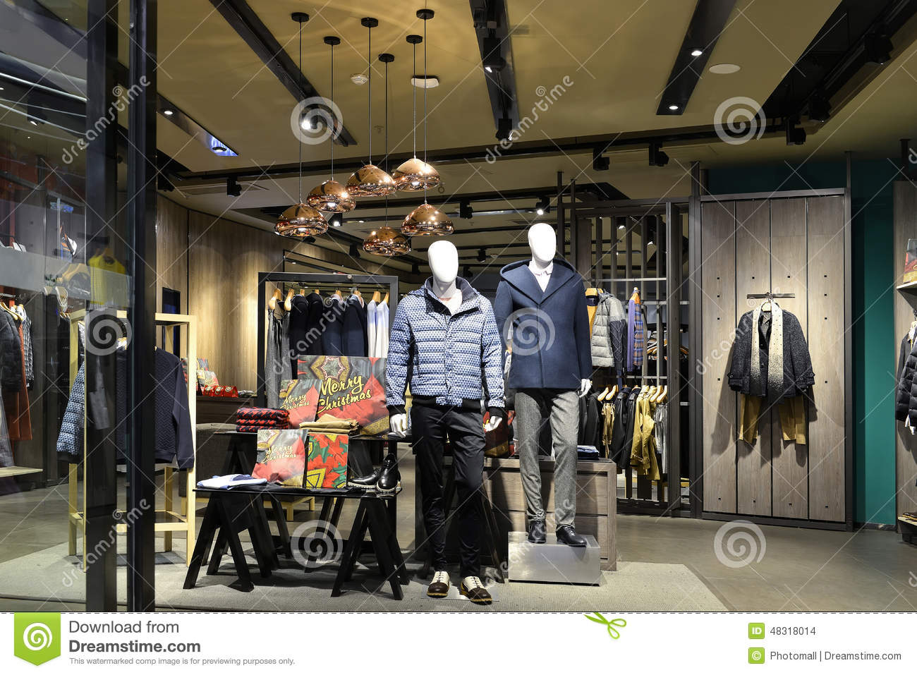 Men's Clothing Store Stock Photo - Image: 48318014