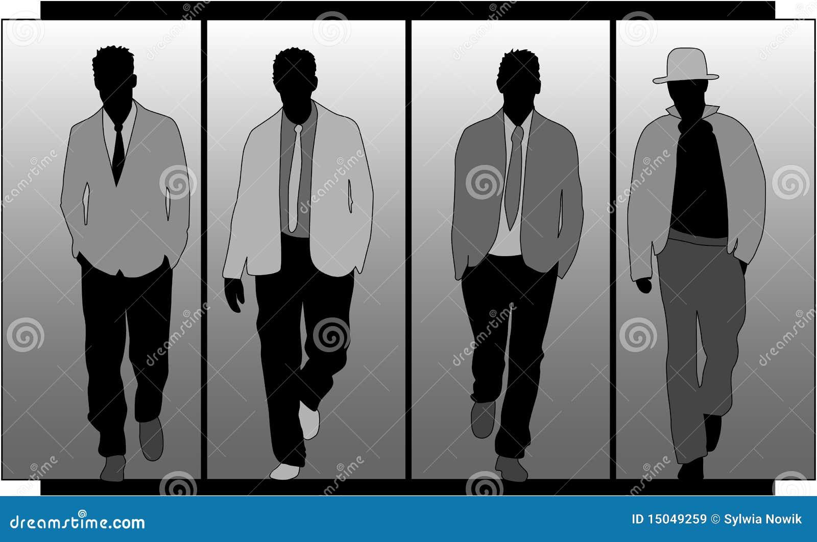 058b9b29a79 Mens fashion stock vector illustration of person play jpg 1300x880 Mens  fashion silhouette
