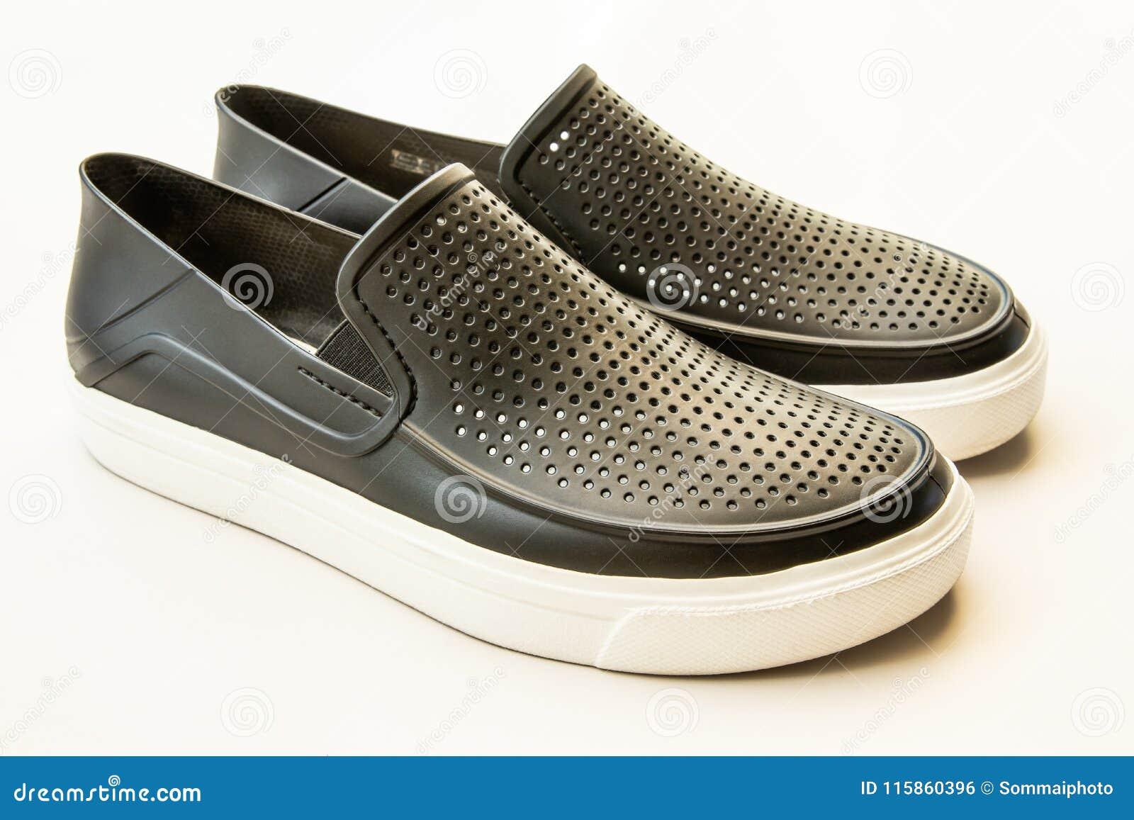 Men`s Fashion Black Rubber Shoes Stock