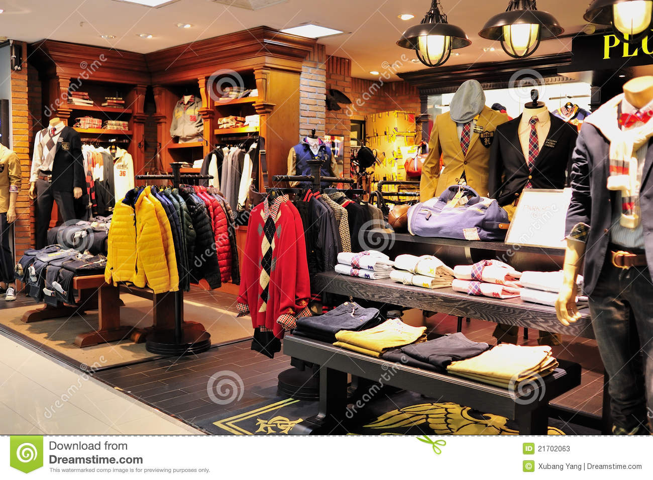 Men's Fashion Clothes Shop Editorial Stock Photo - Image: 21702063