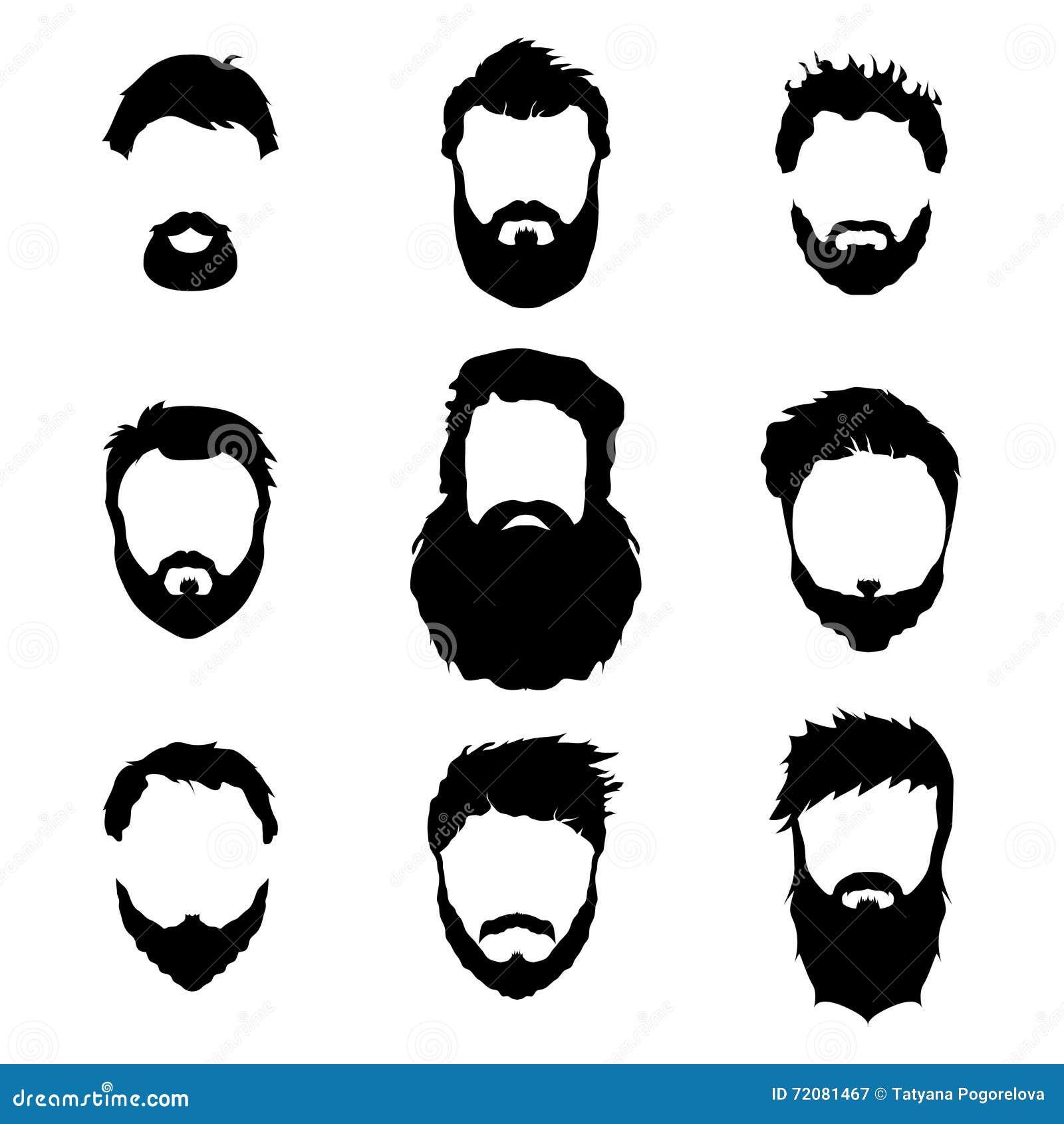 Beard Silhouette Vector The Image Kid Has It