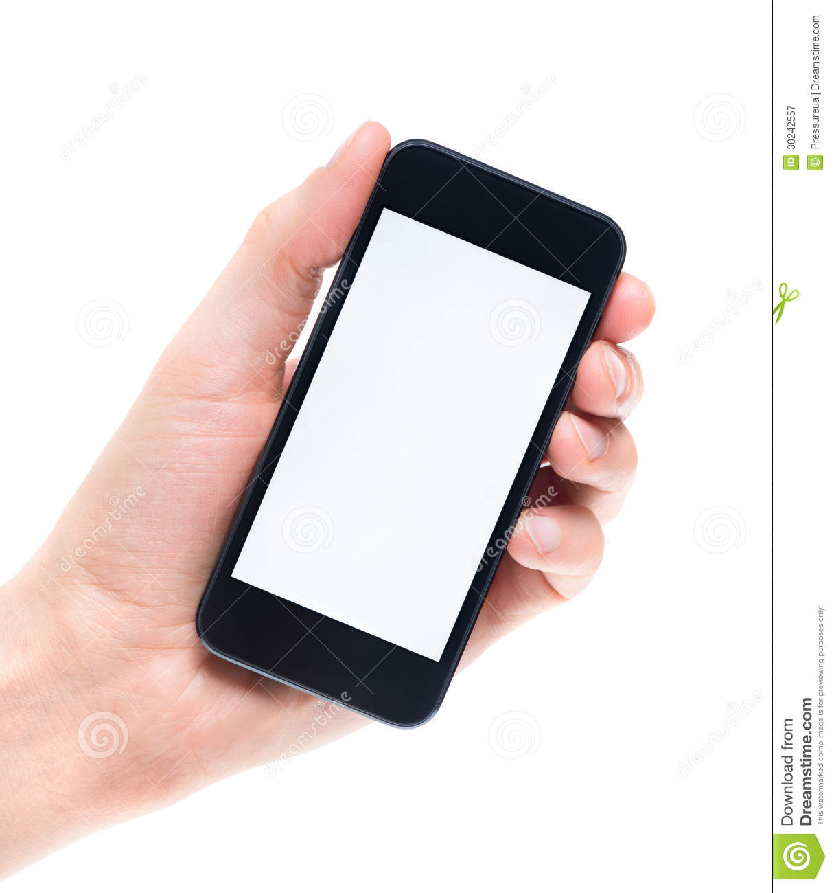 Blank Mobile Phone In Hand Isolated Royalty Free Stock Photography ...