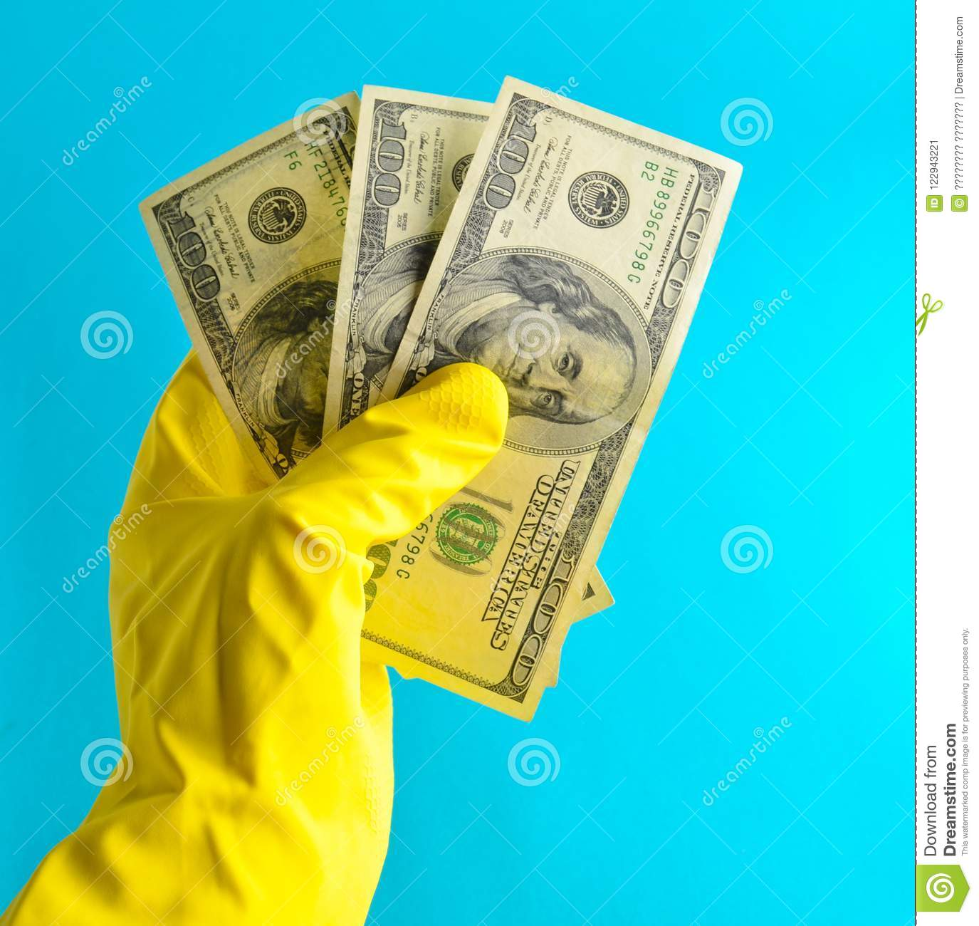 men x27s hands with yellow rubber gloves for cleaning
