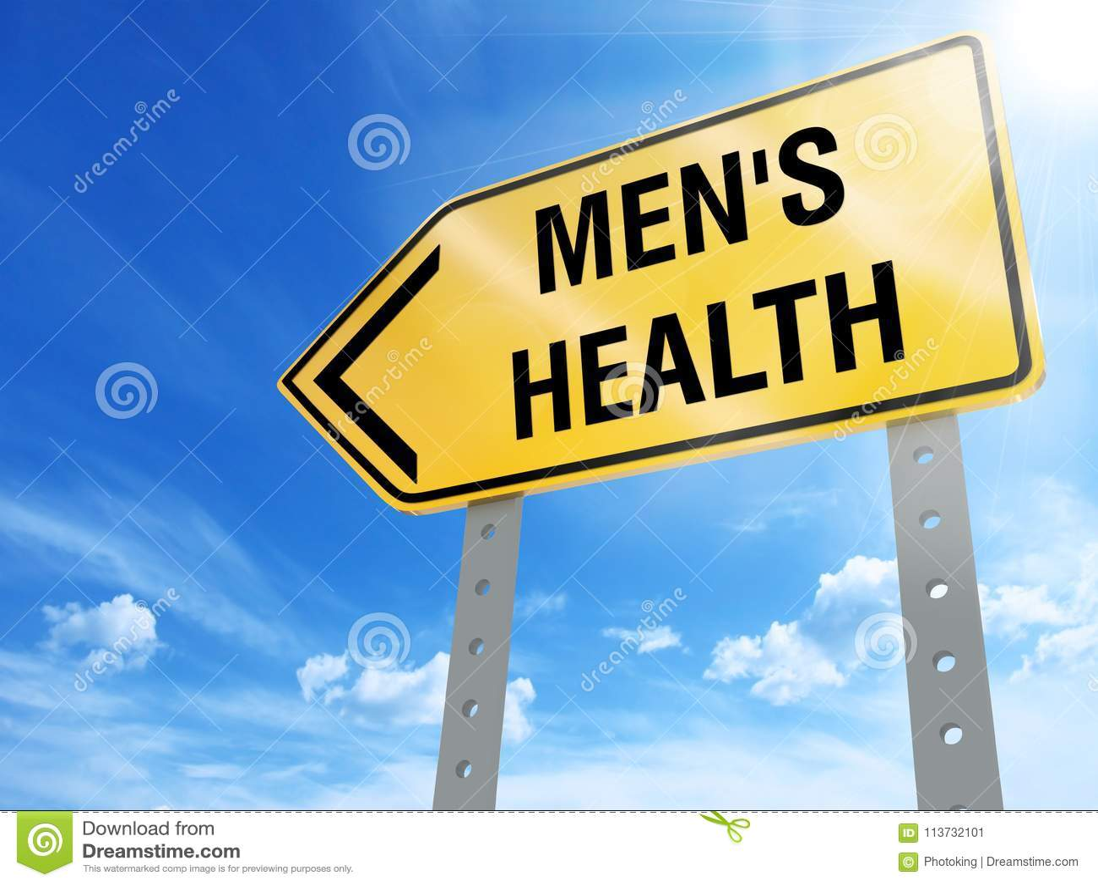 Men`s health sign