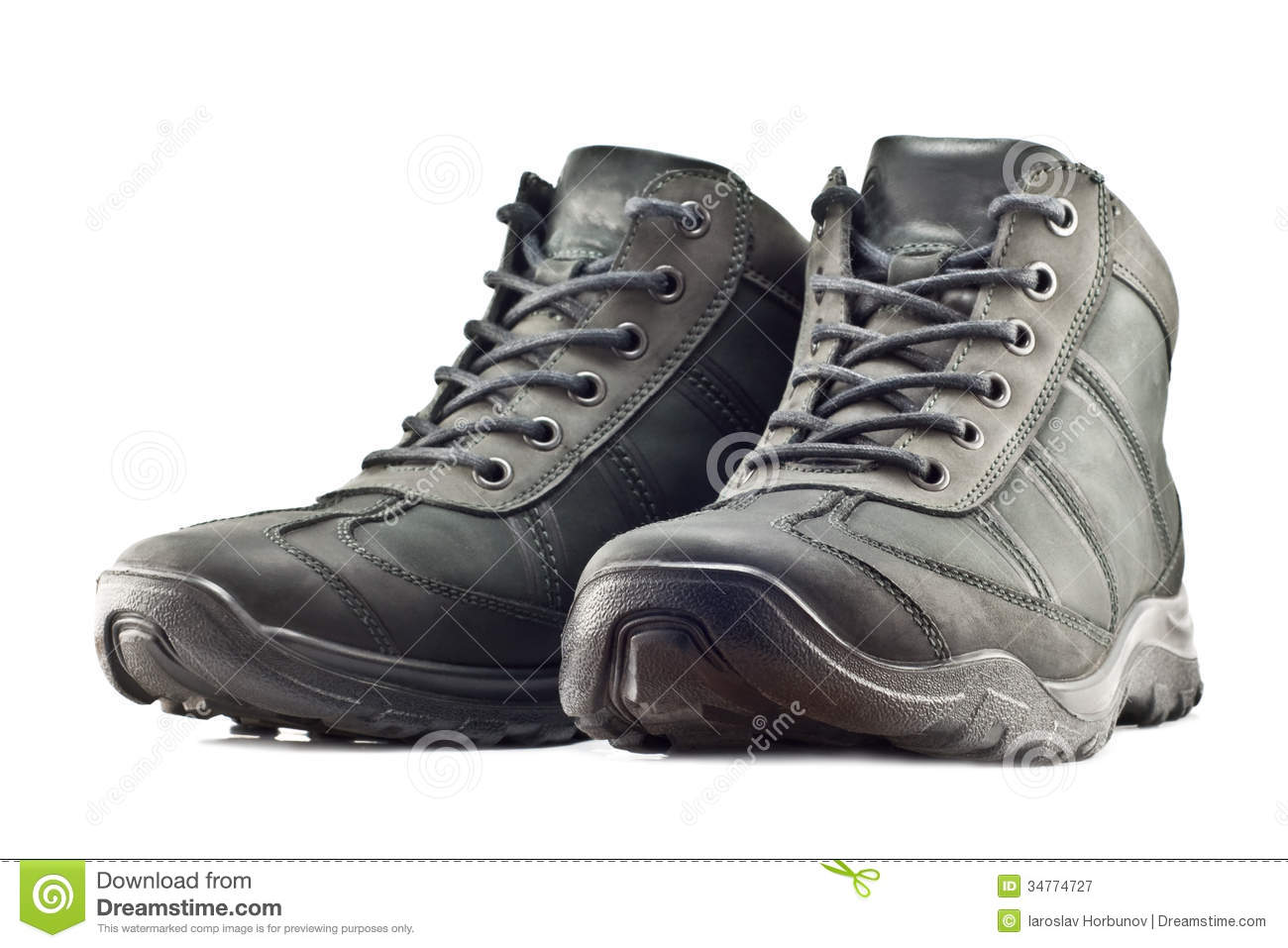 Men's Hiking Boots Stock Photos - Image: 36538983