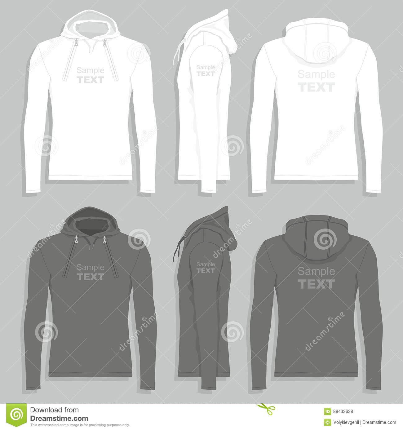 Men`s Hoodie Design Template Stock Vector - Illustration ...