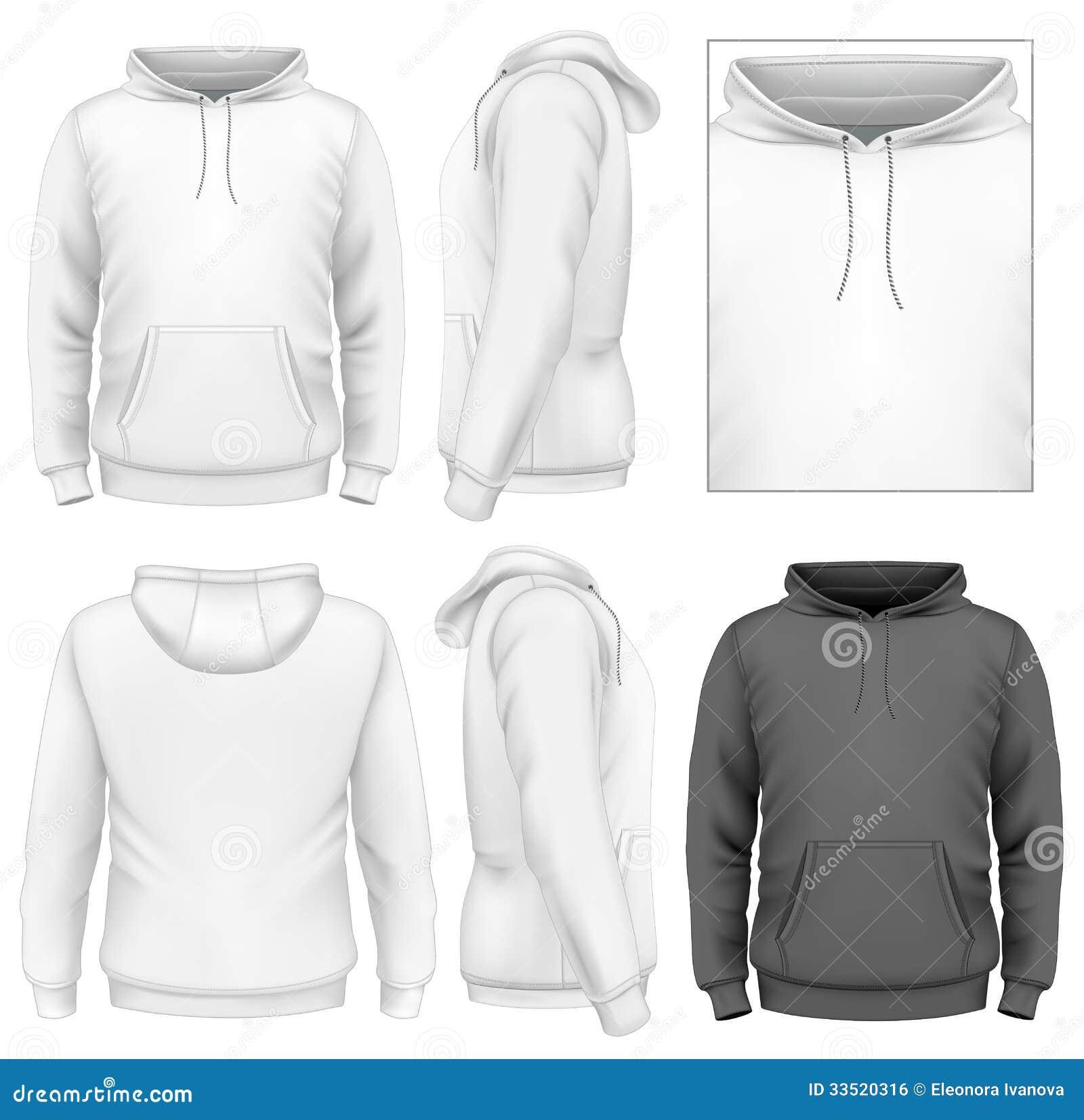 Men s hoodie design template