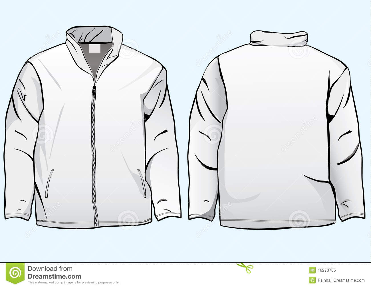 men s jacket or sweatshirt template stock illustration