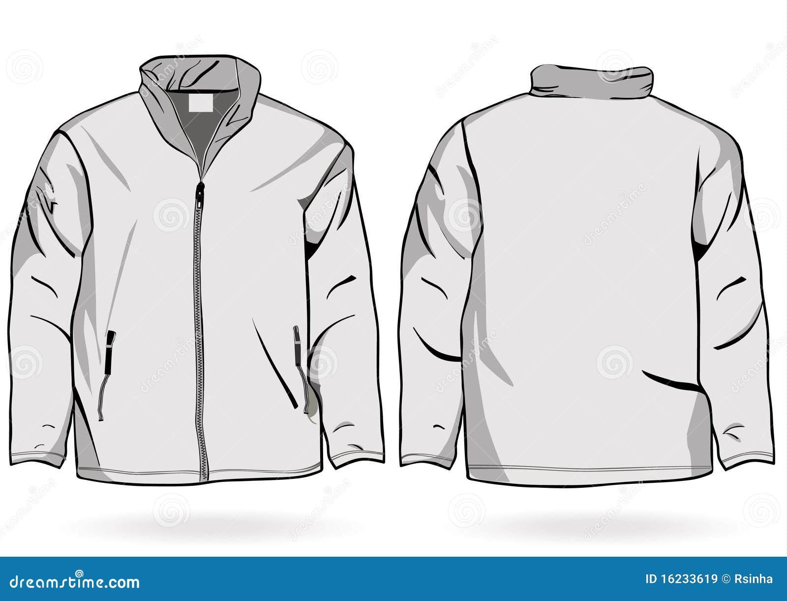 Men's Jacket Or Sweatshirt Template With Zipper Royalty
